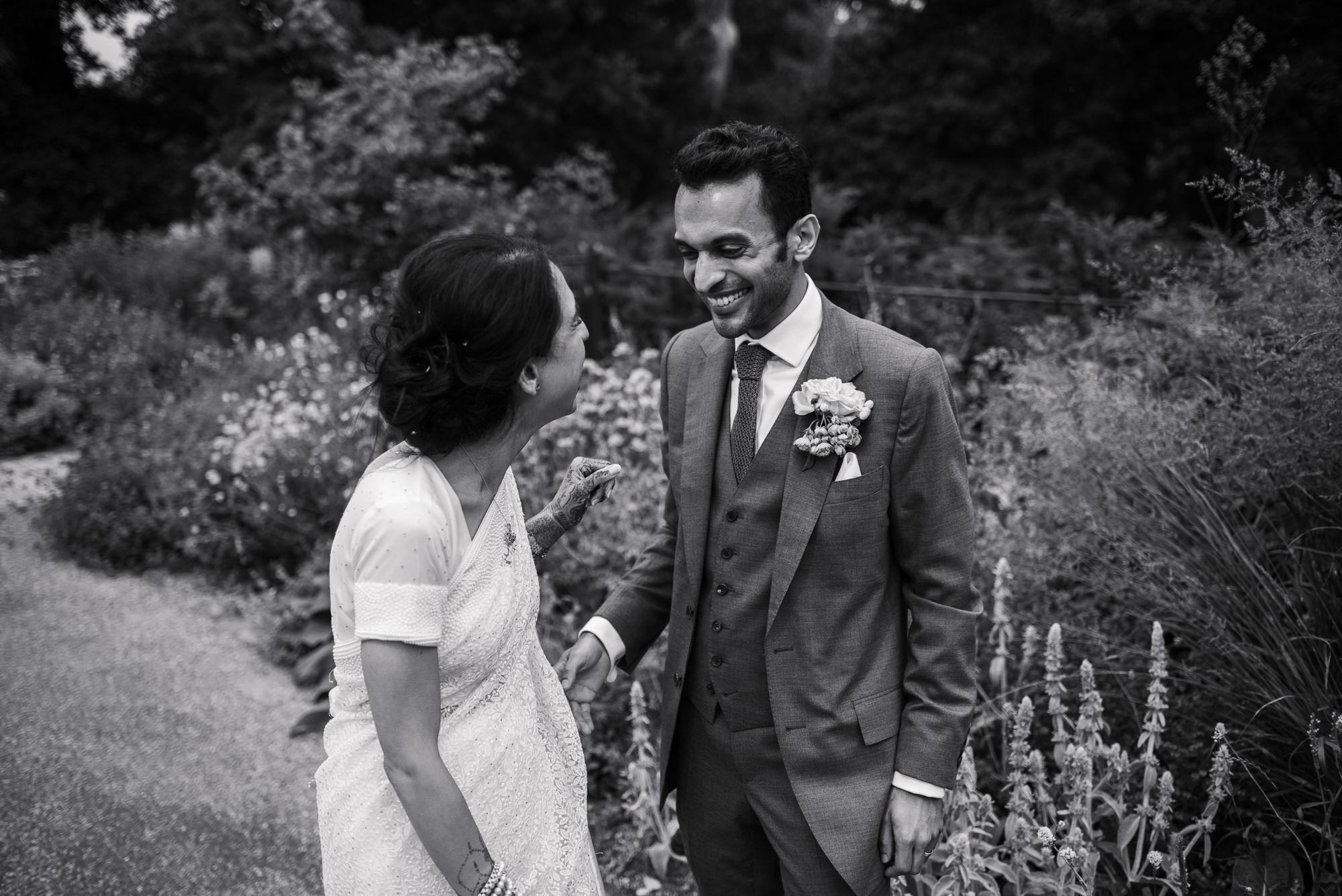 Pembroke lodge wedding newlyweds