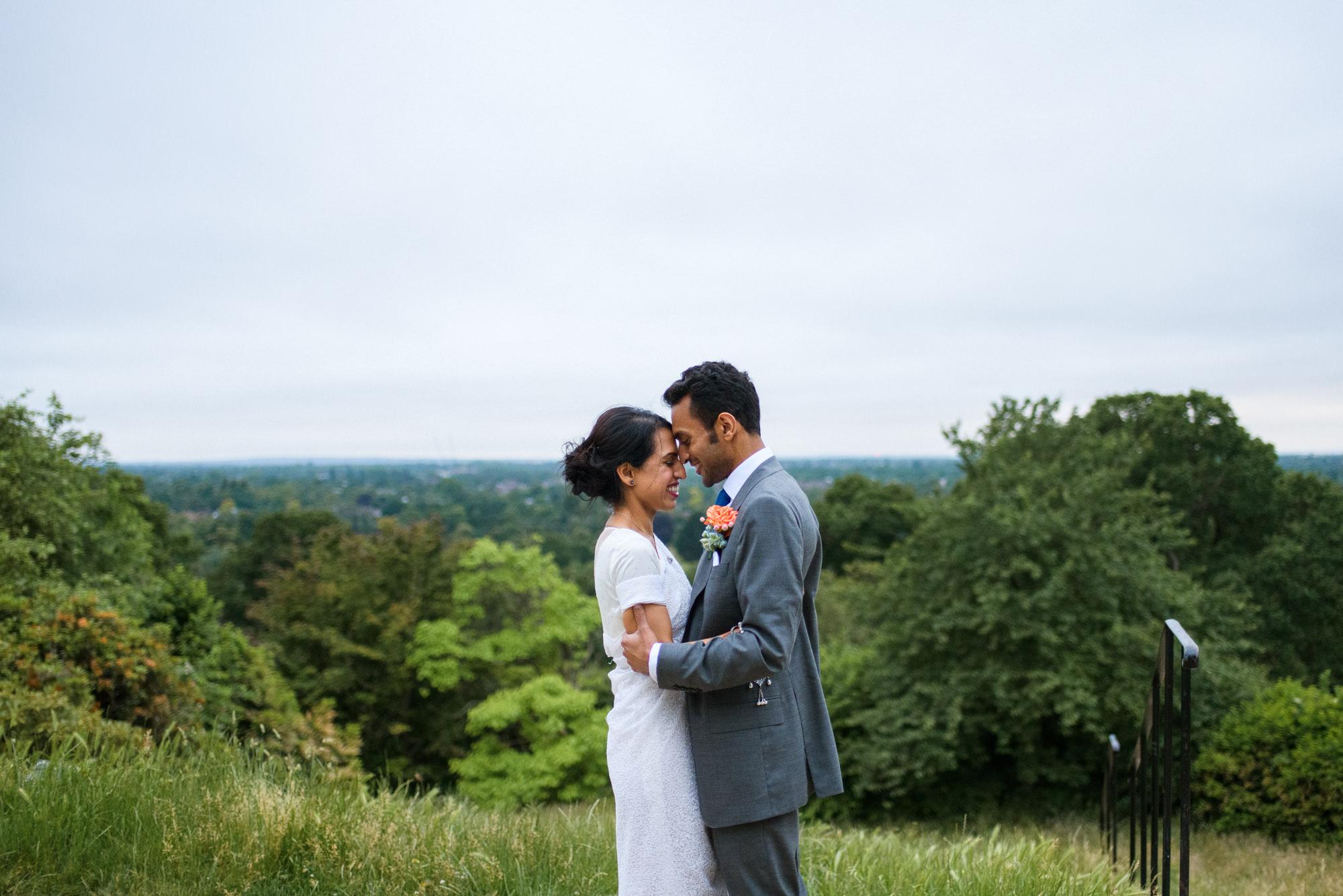 wedding couple at Pembroke lodge