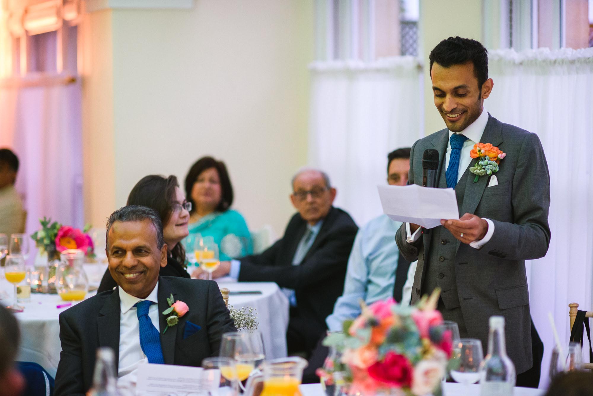 groom wedding speech Pembroke lodge