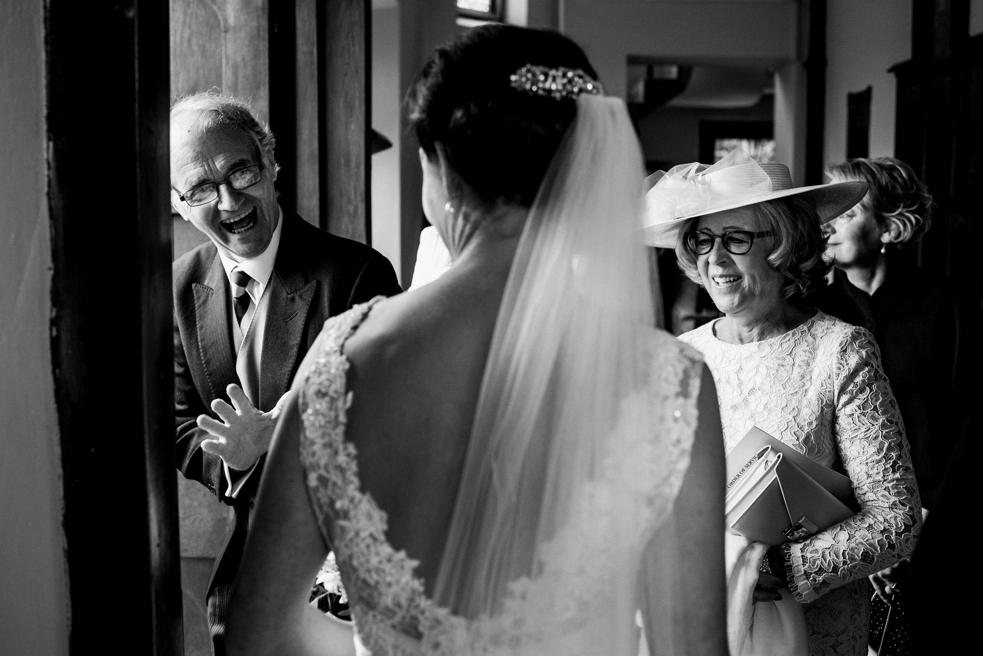 Kingswood school chapel wedding guests