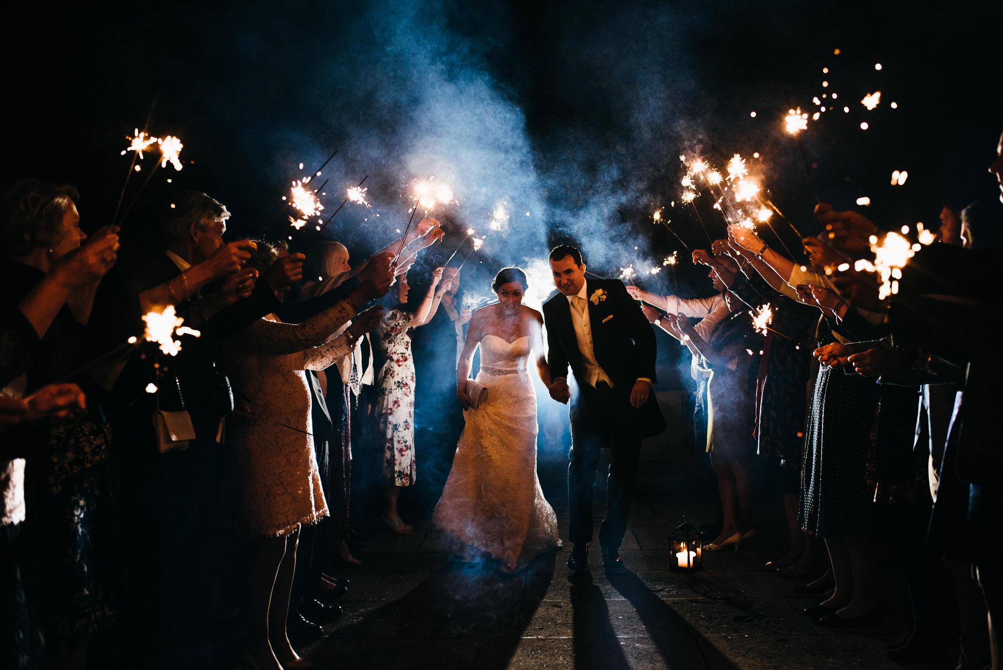 Kingswood school wedding sparklers