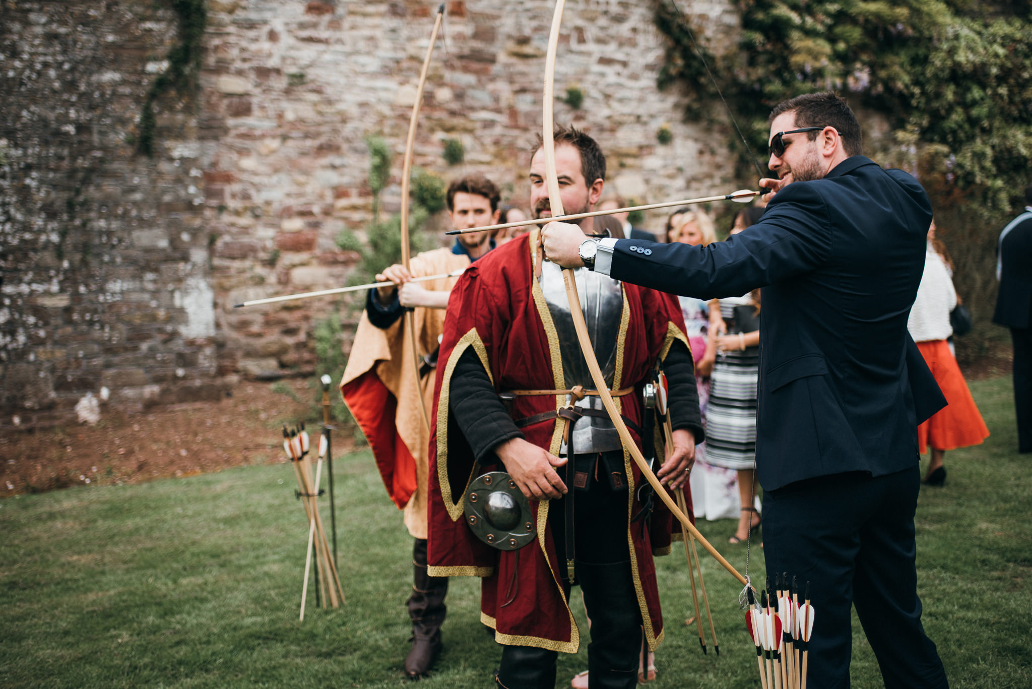 Archery at wedding