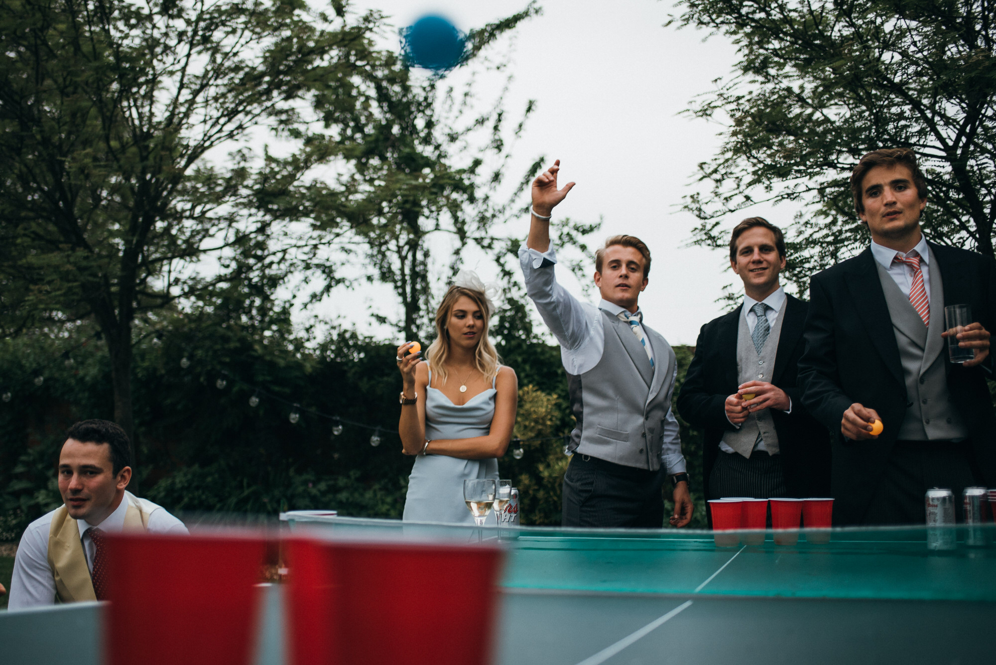 Beerpong at wedding
