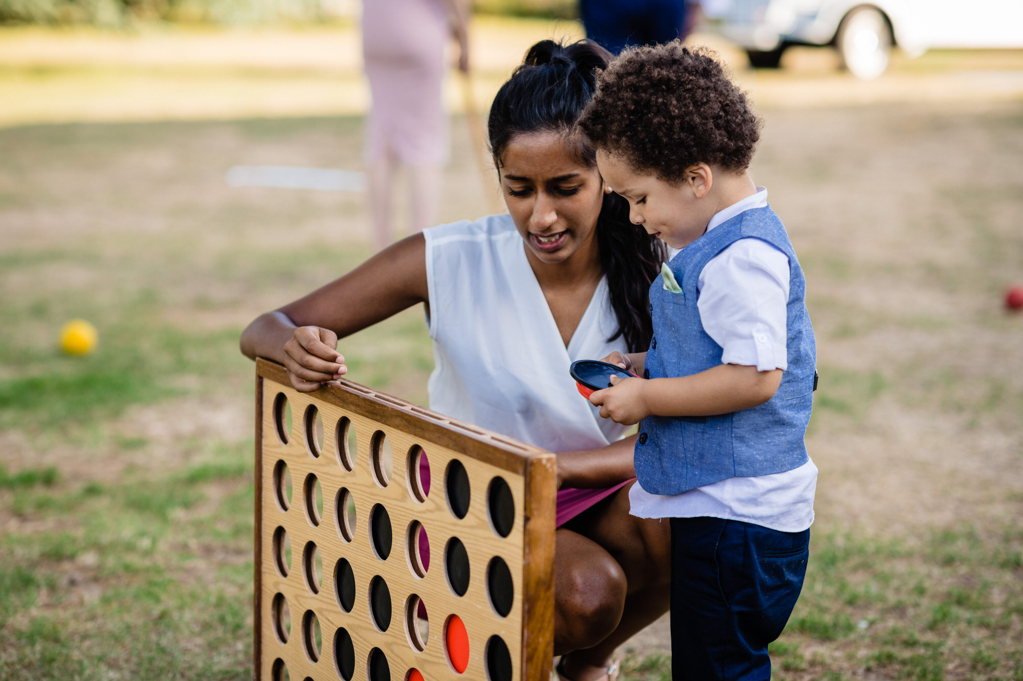 Connect four at wedding