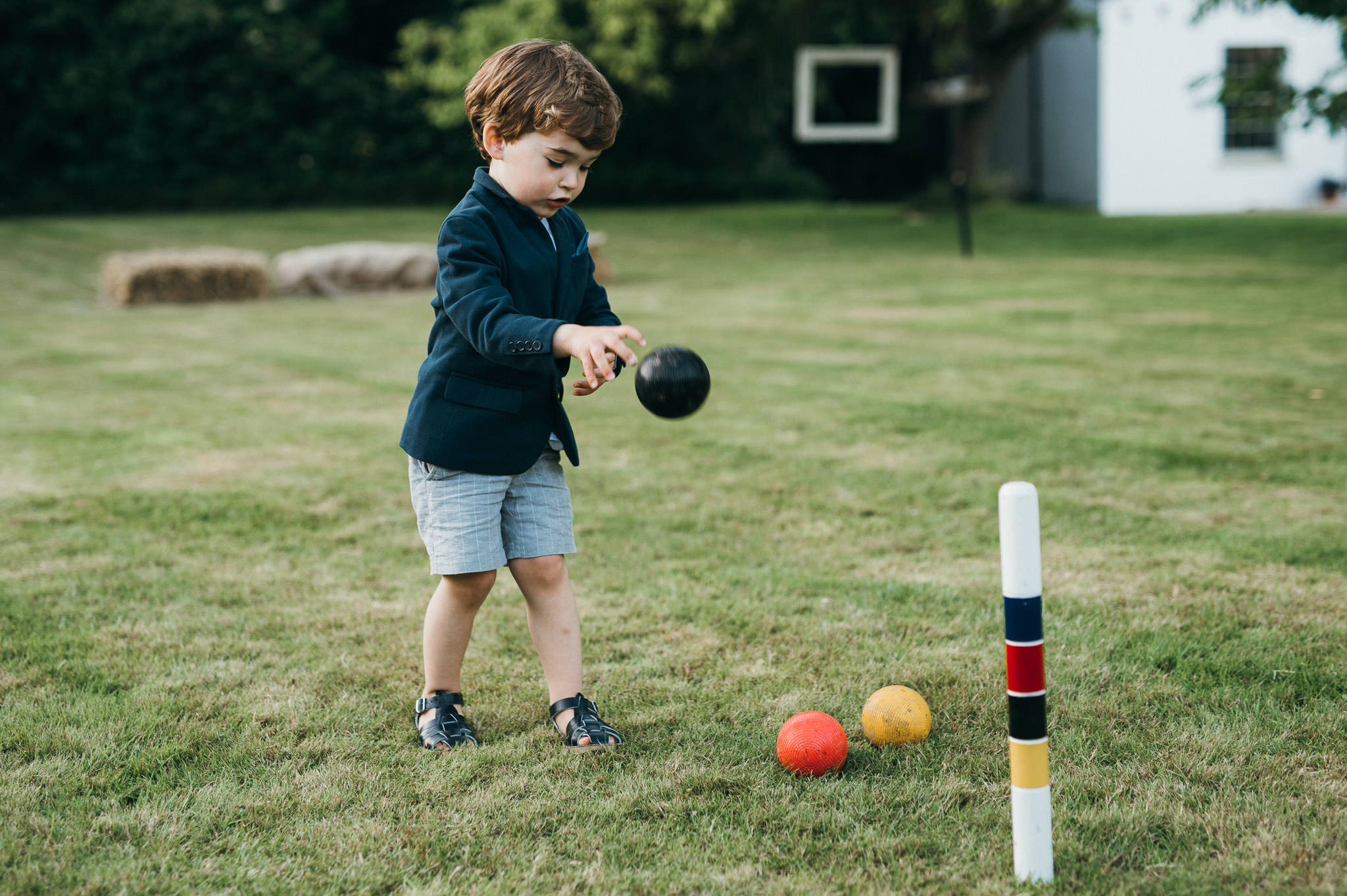 Croquet boy at wedding