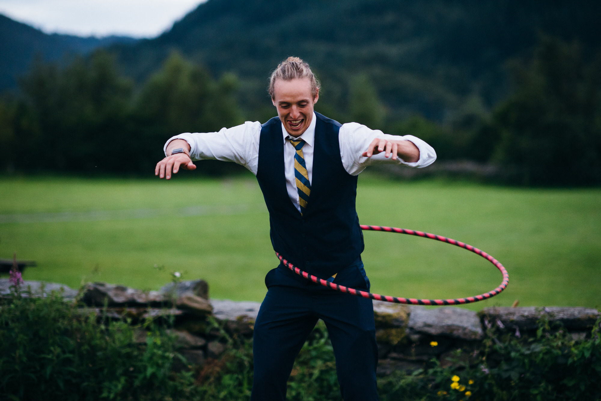 Hula hoop at wedding