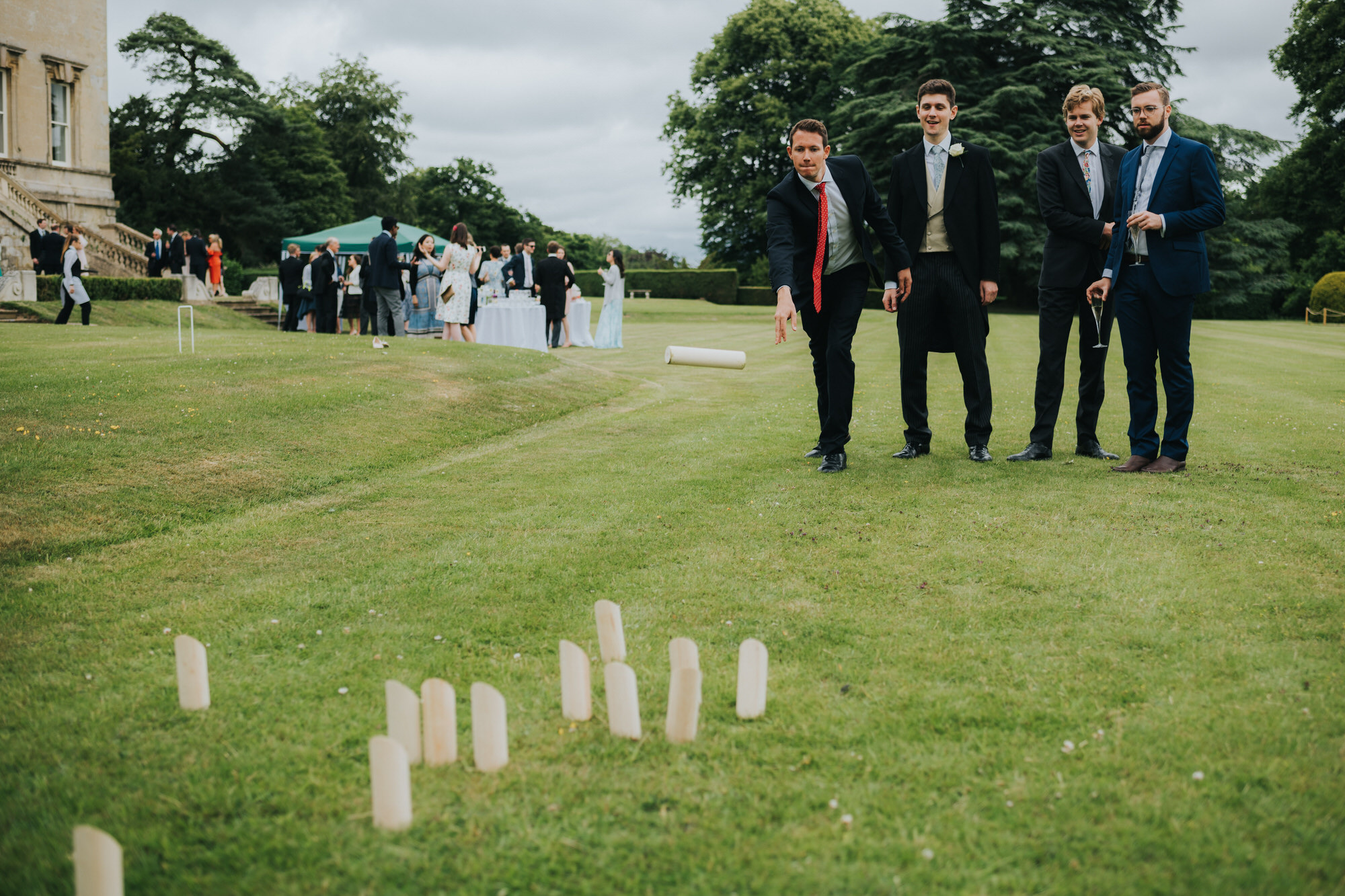 Kubb at wedding