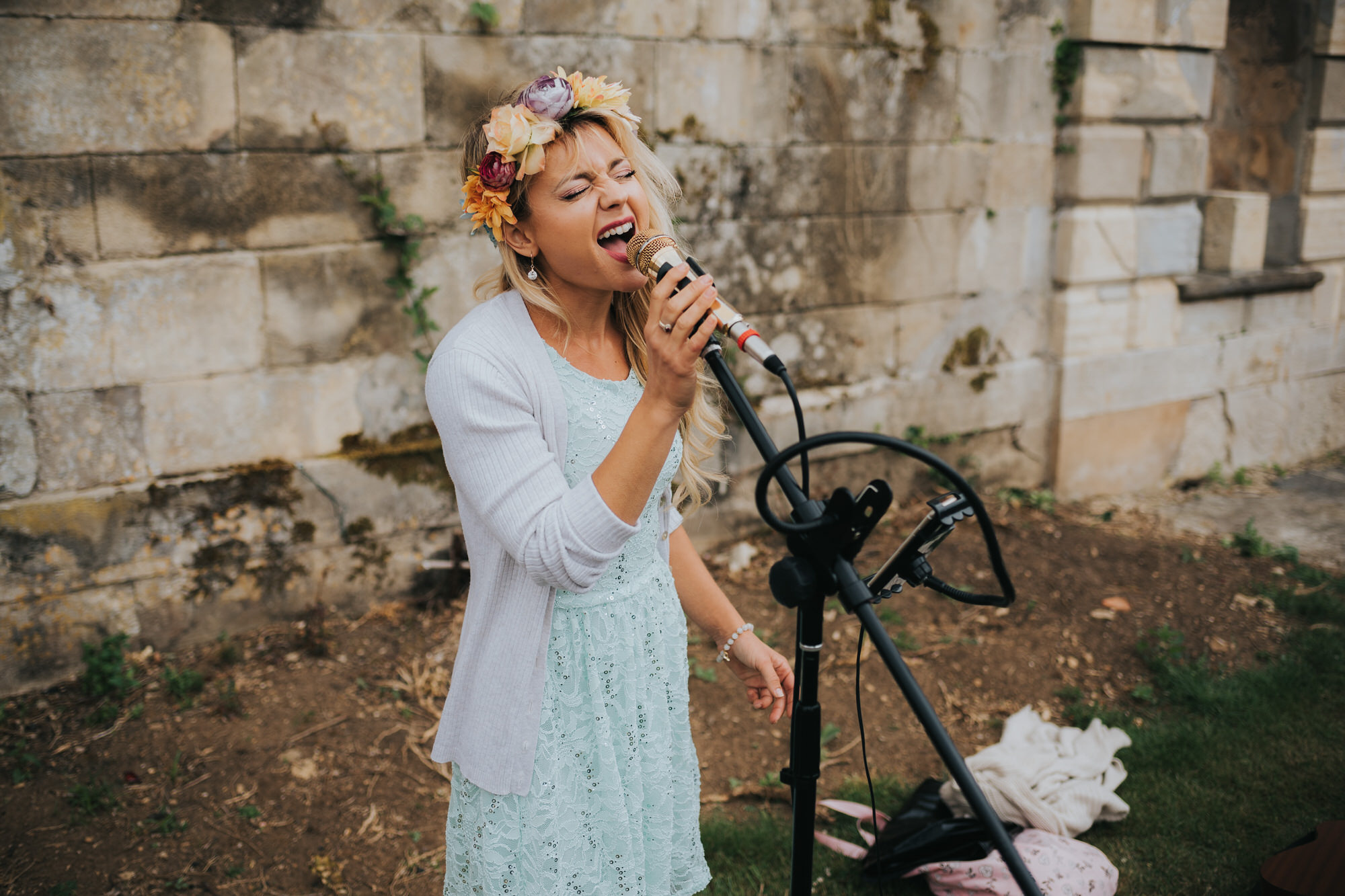Singer at wedding