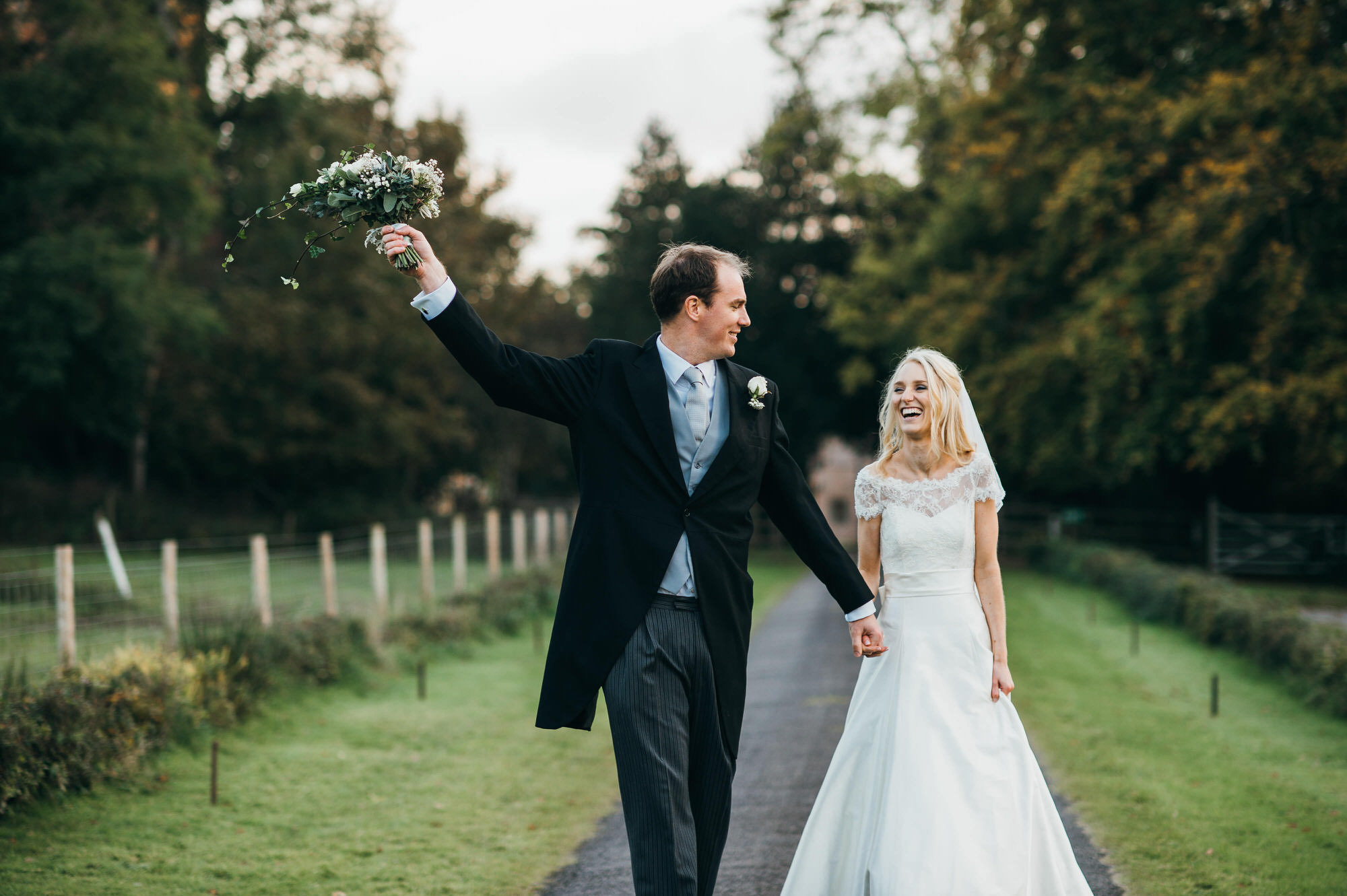 Crowcombe court bride and groom