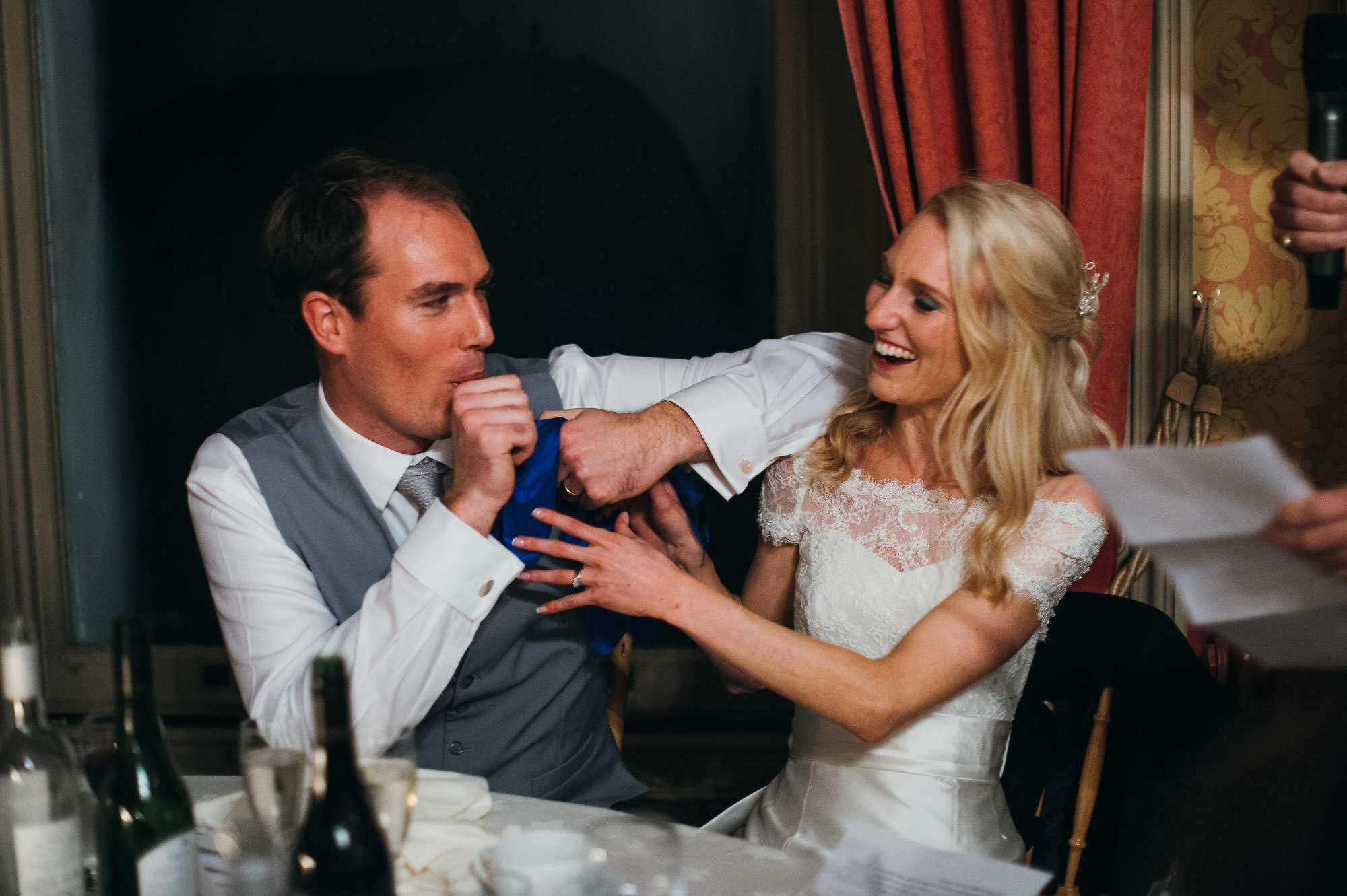 Crowcombe court wedding couple