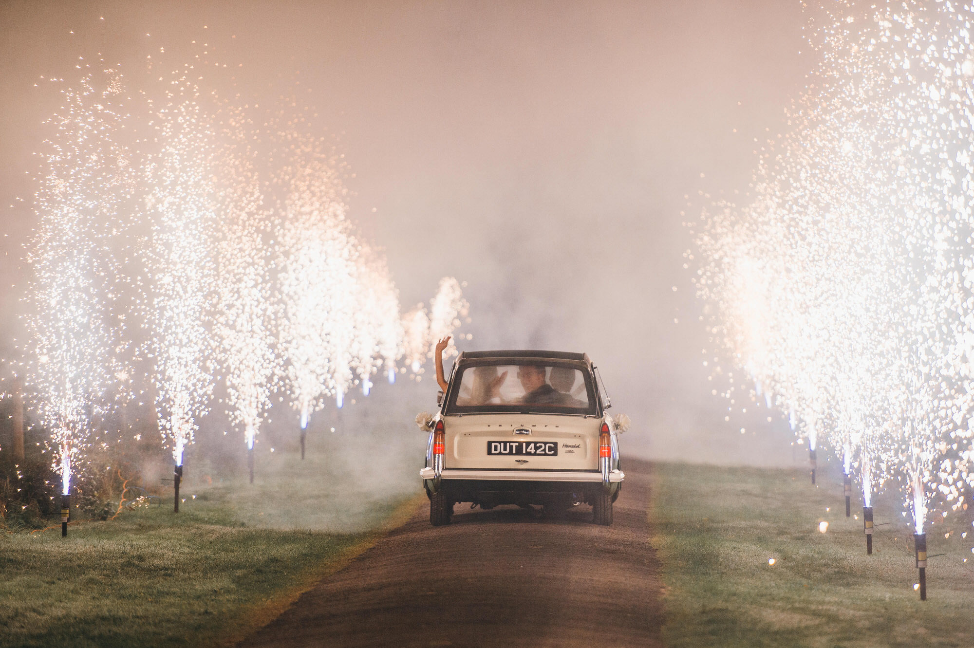 Crowcombe court wedding fireworks