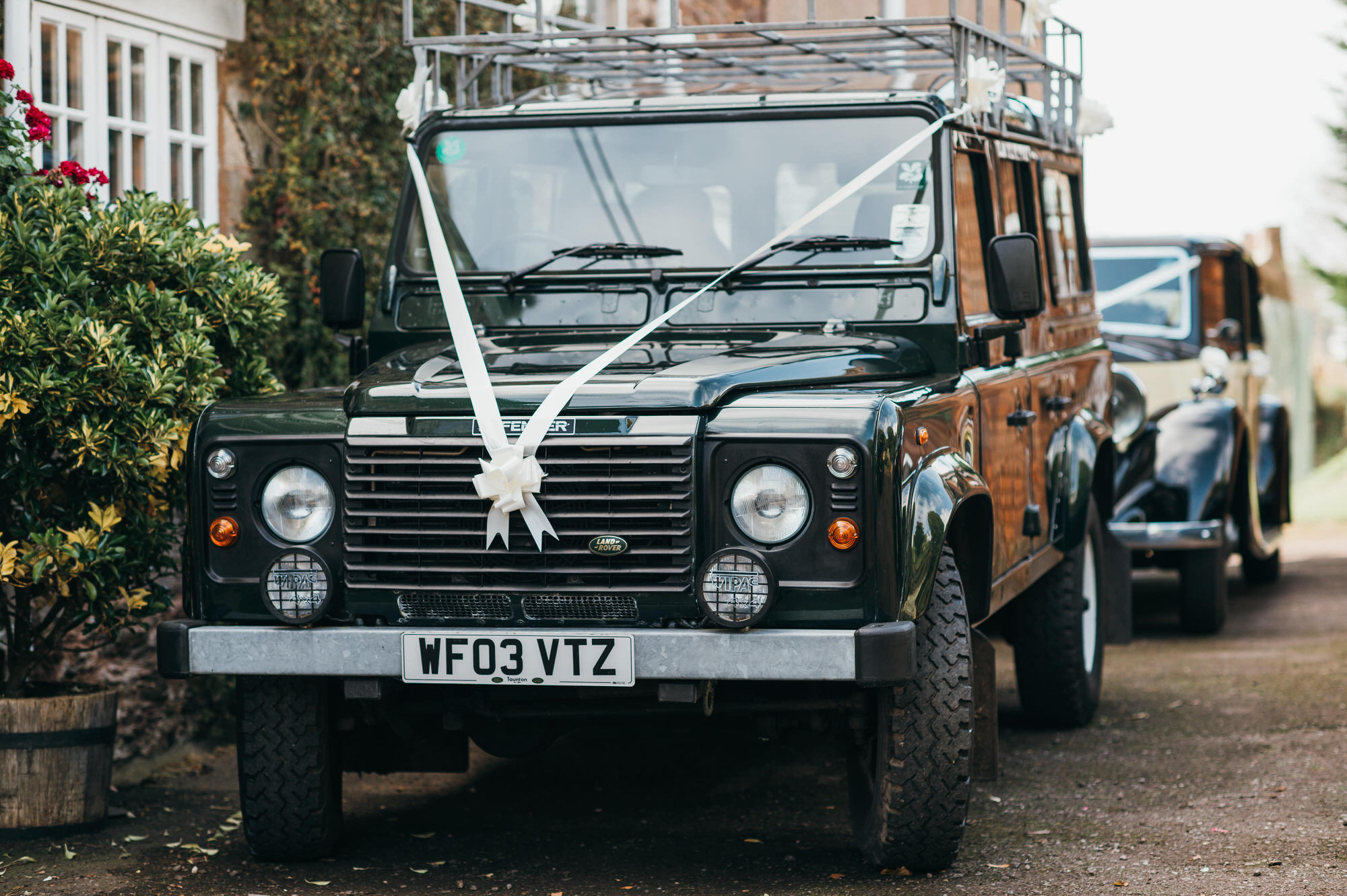 Landrover wedding car