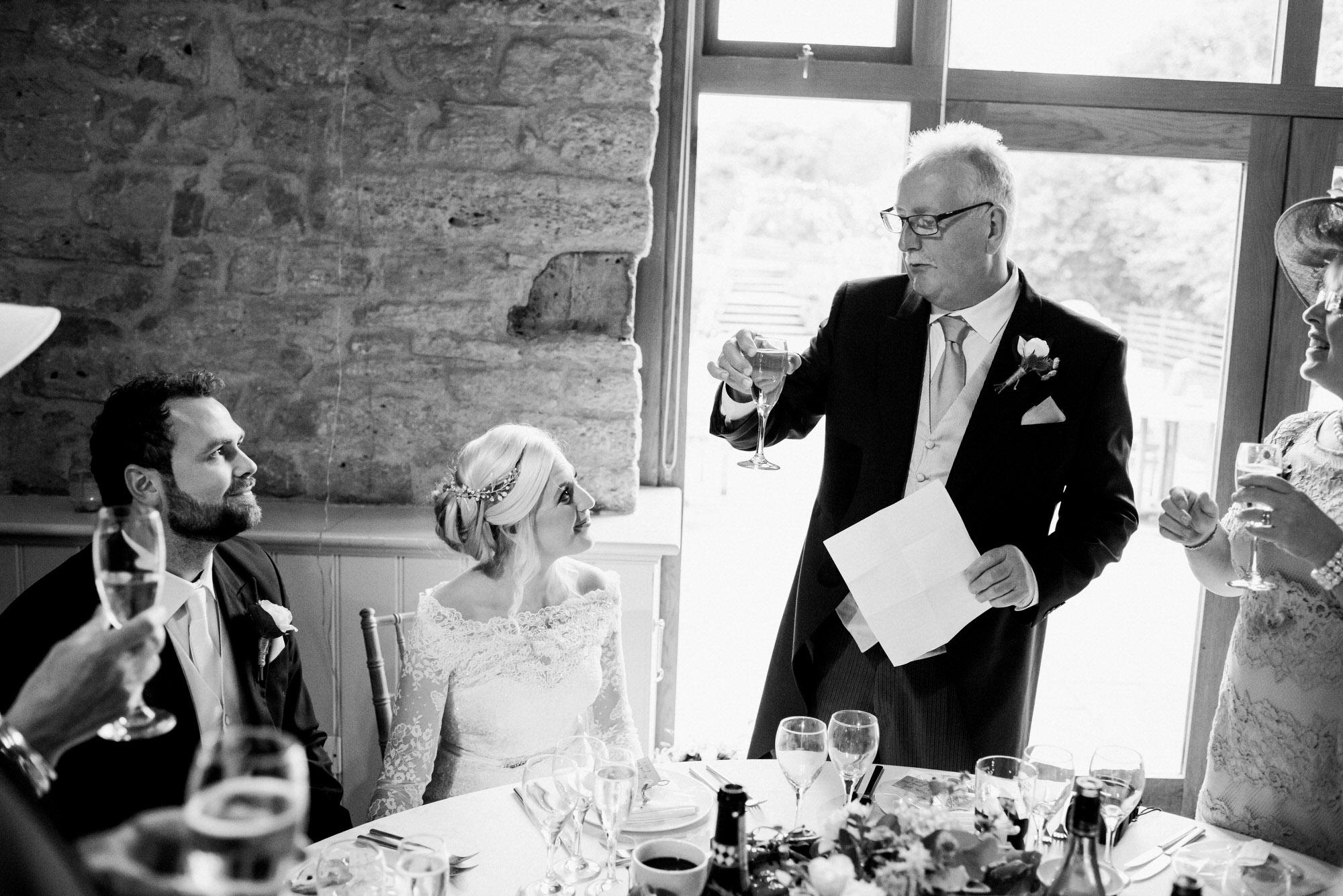 Wick farm wedding speech