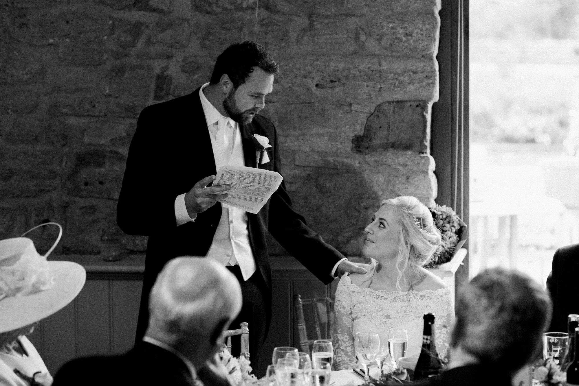 Wick farm wedding groom speech