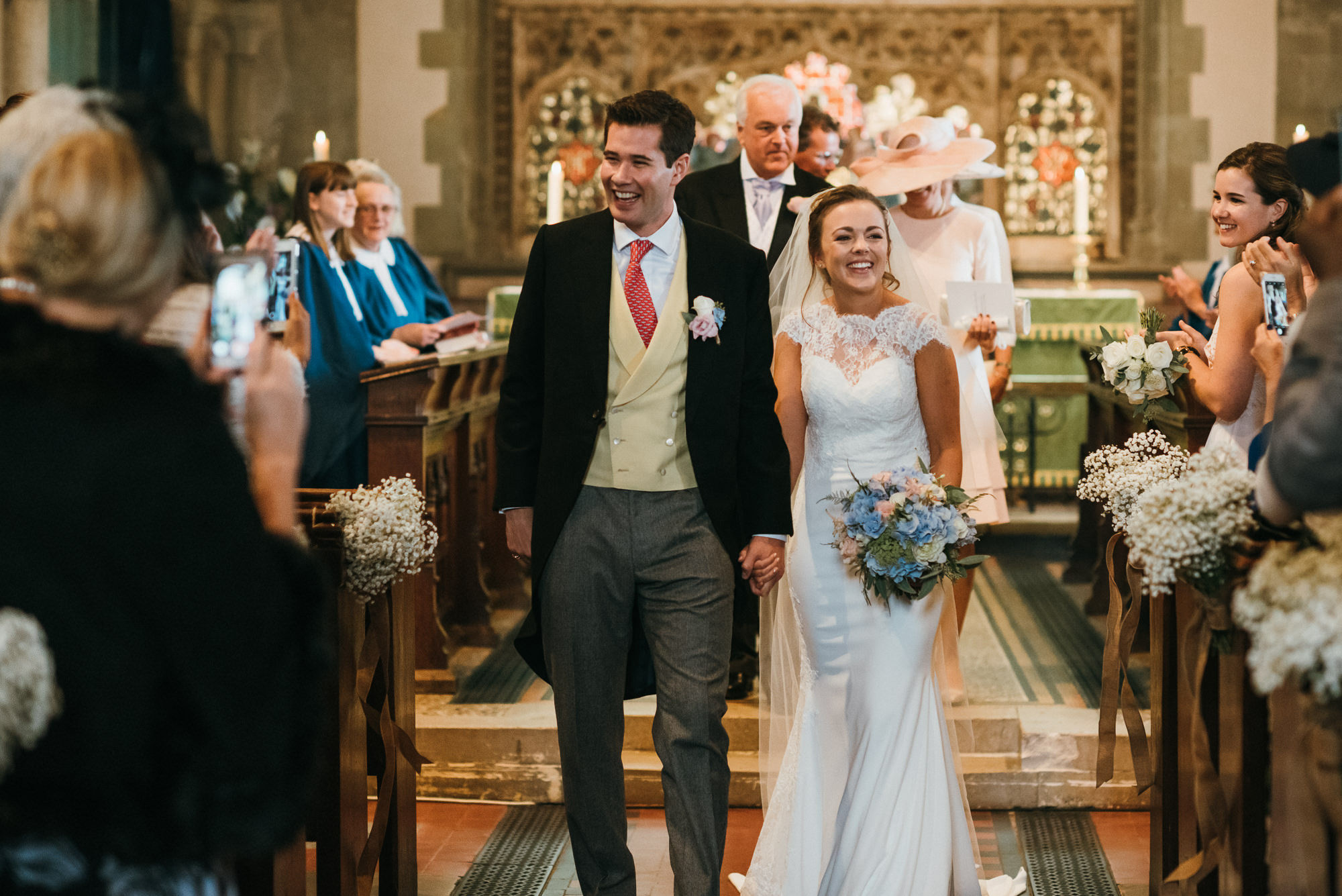 just married at St Mary the Virgin Church Kent