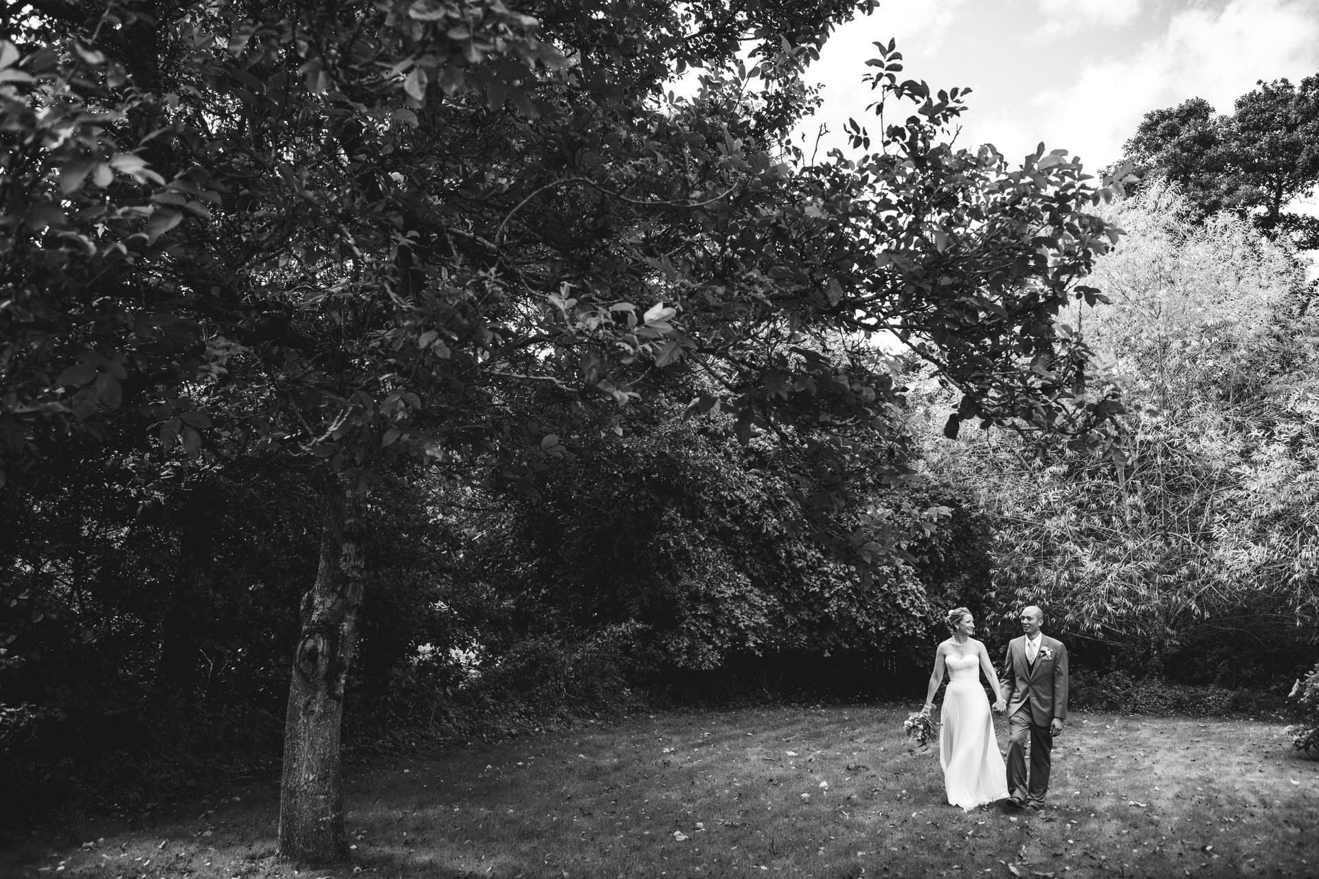 Bride and groom micro wedding