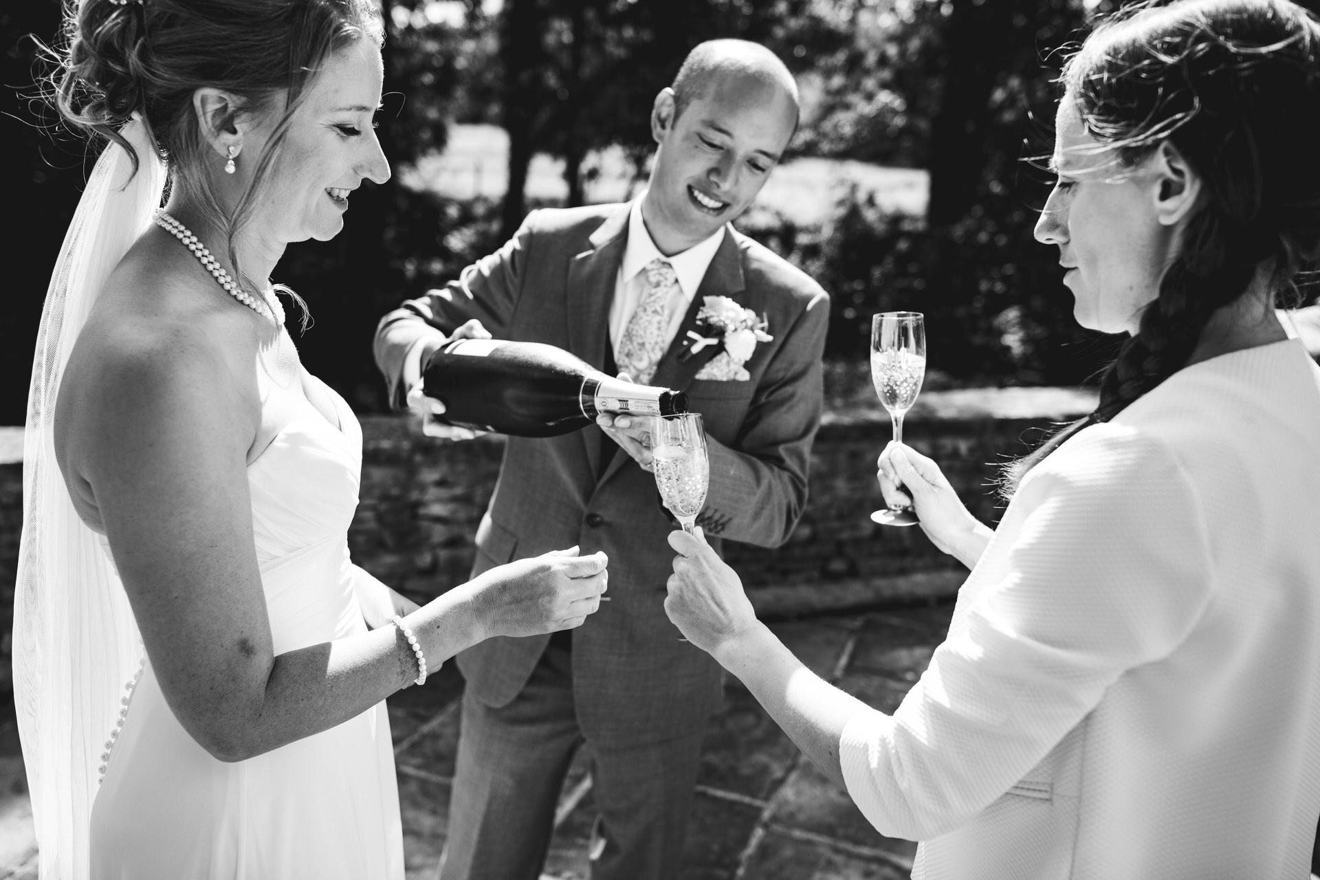 Micro wedding drinks reception
