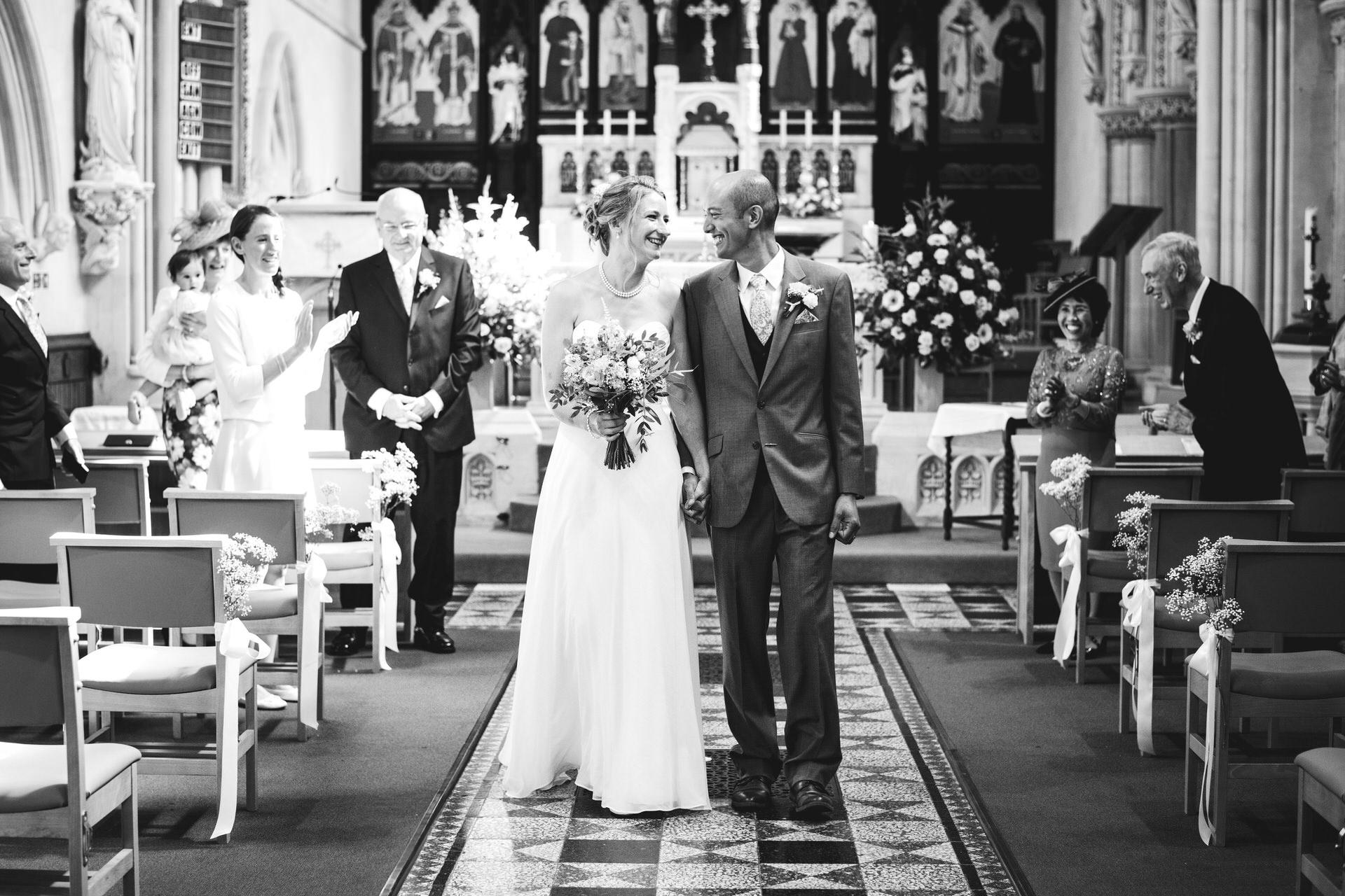 Micro wedding in church
