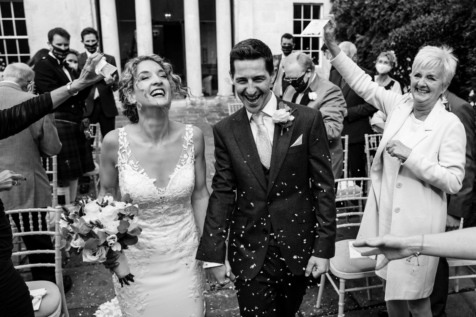 Confetti at Royal crescent wedding