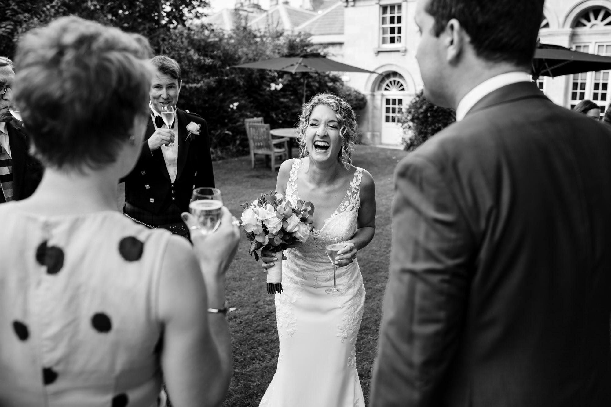 Bride at Royal crescent wedding