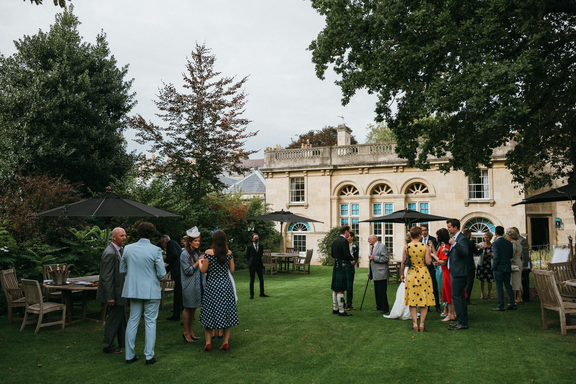 Royal crescent wedding outdoor reception