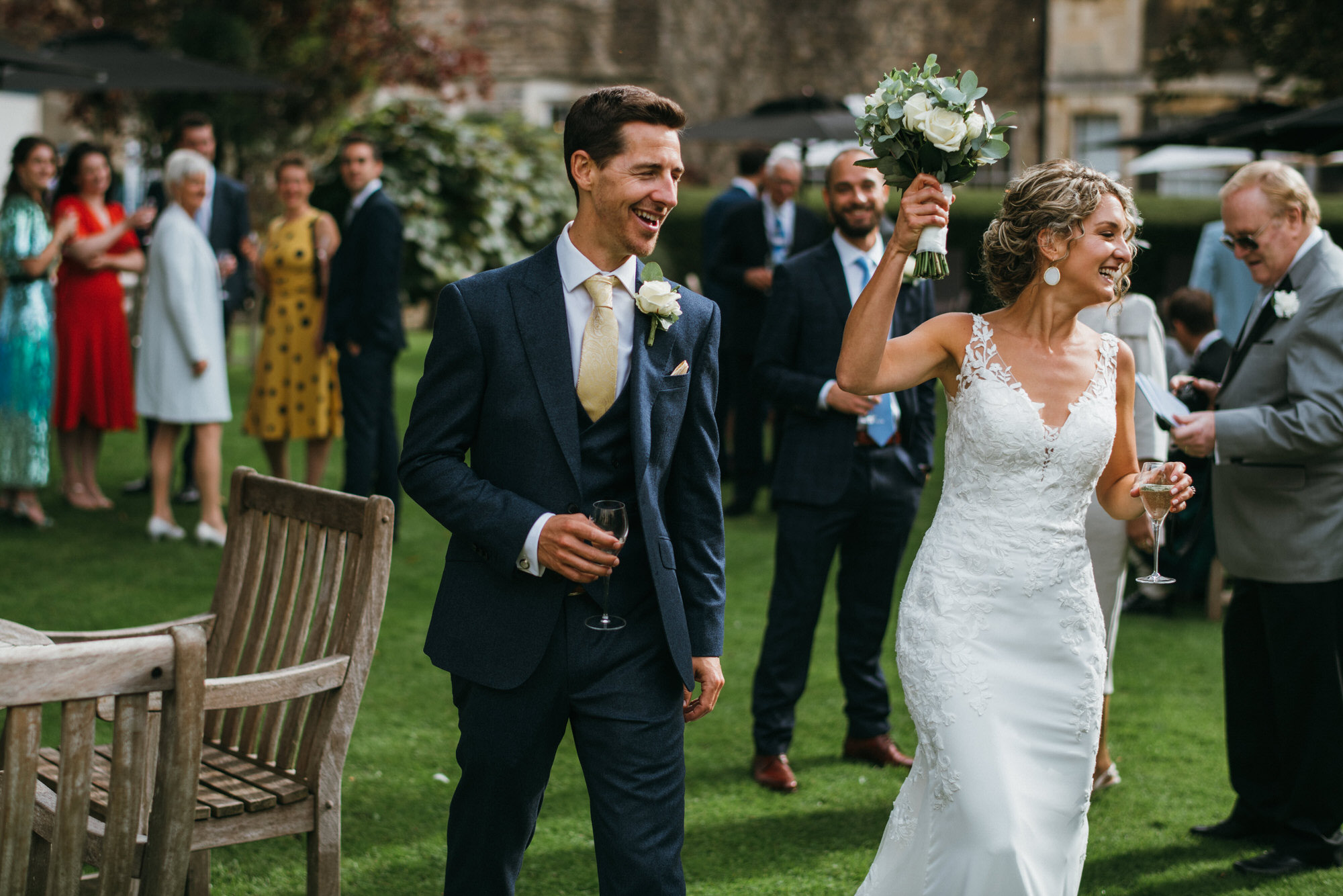 Royal crescent wedding couple