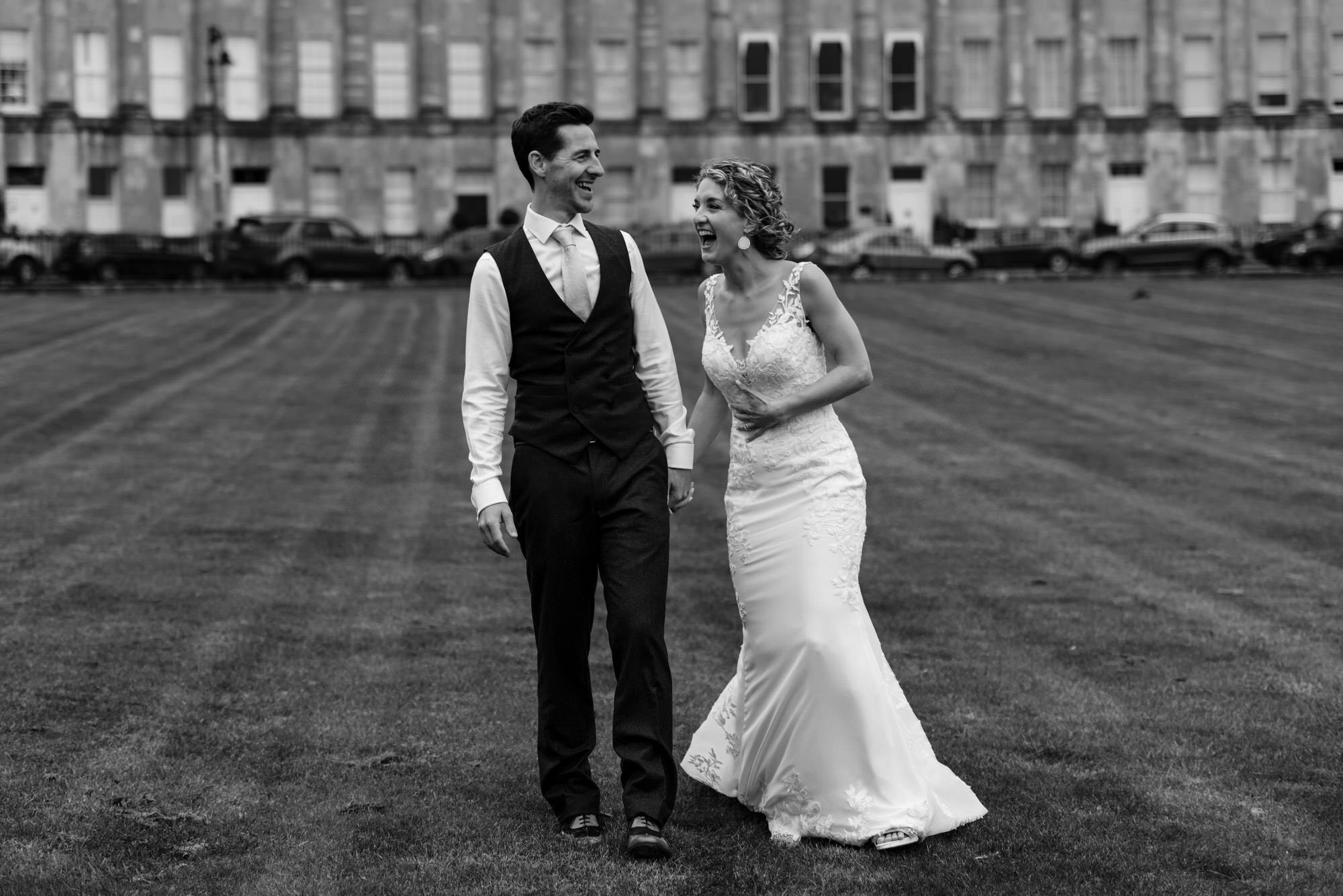 Royal crescent wedding Bride and Groom