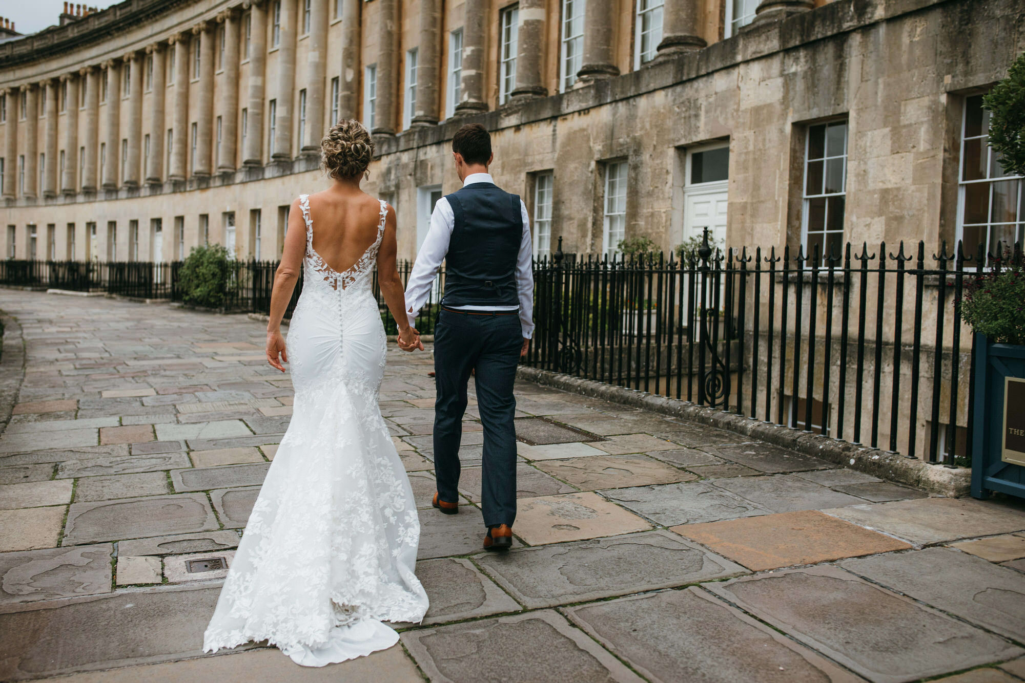Royal crescent Bride and Groom