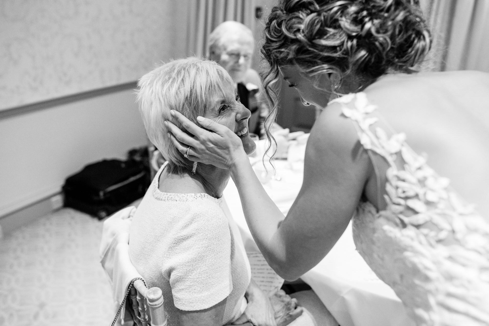 Royal crescent wedding mum and bride