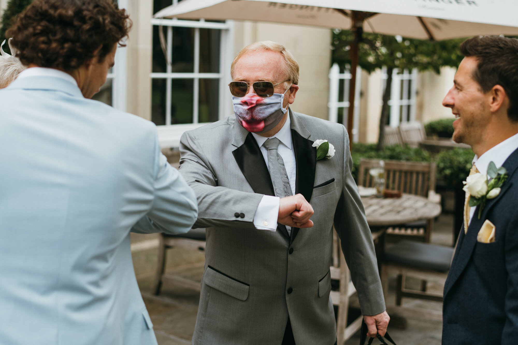 Covid secure wedding photographer bath