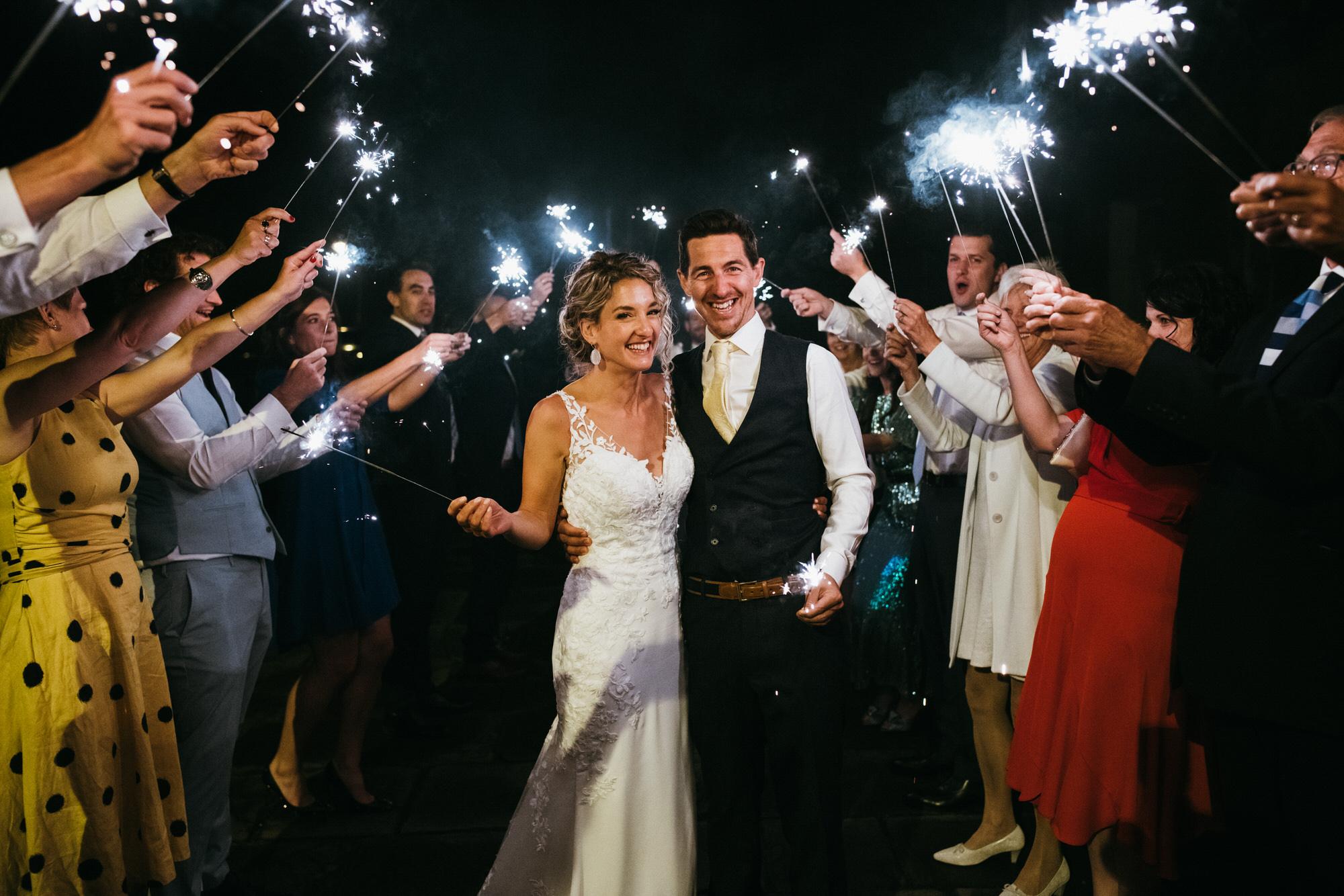 Royal crescent wedding sparklers