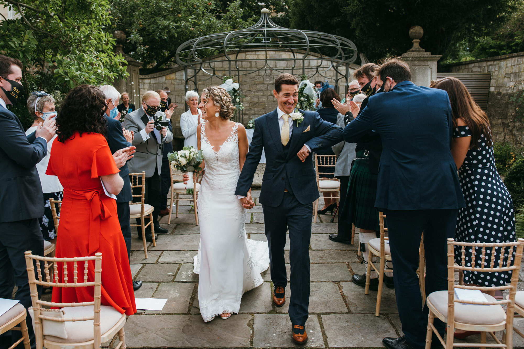 Royal crescent hotel wedding walled garden