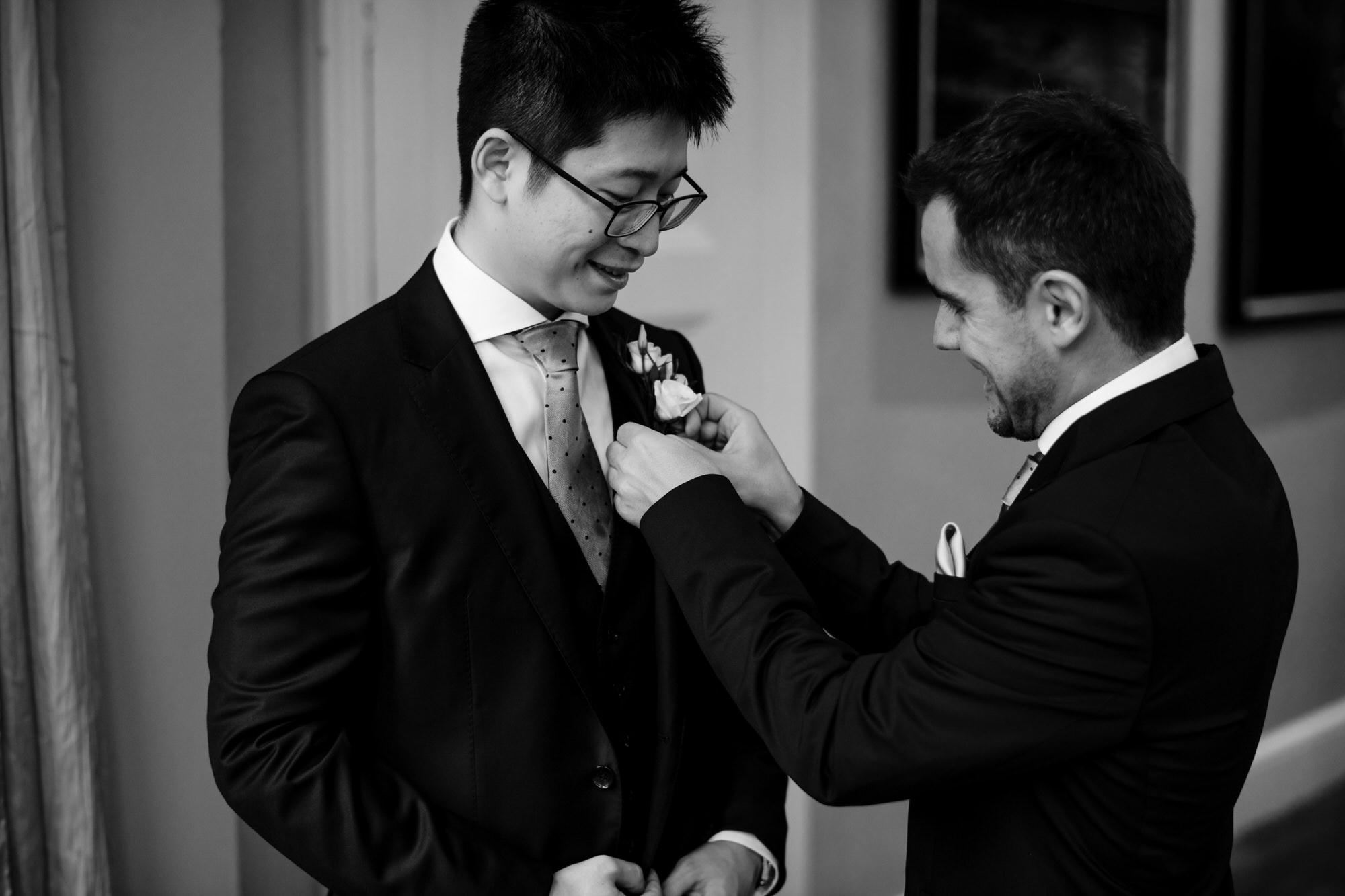 Homewood groom preparations