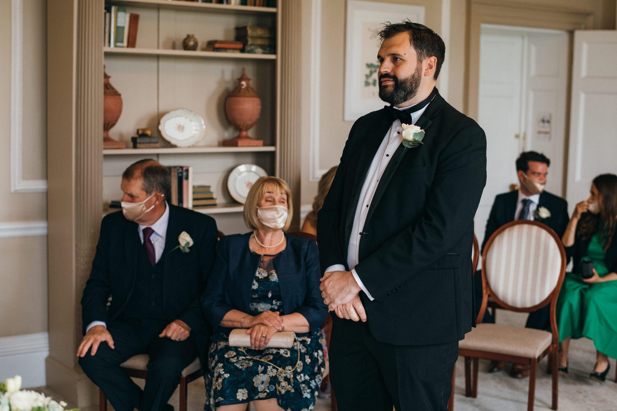 Black tie intimate wedding royal crescent 13