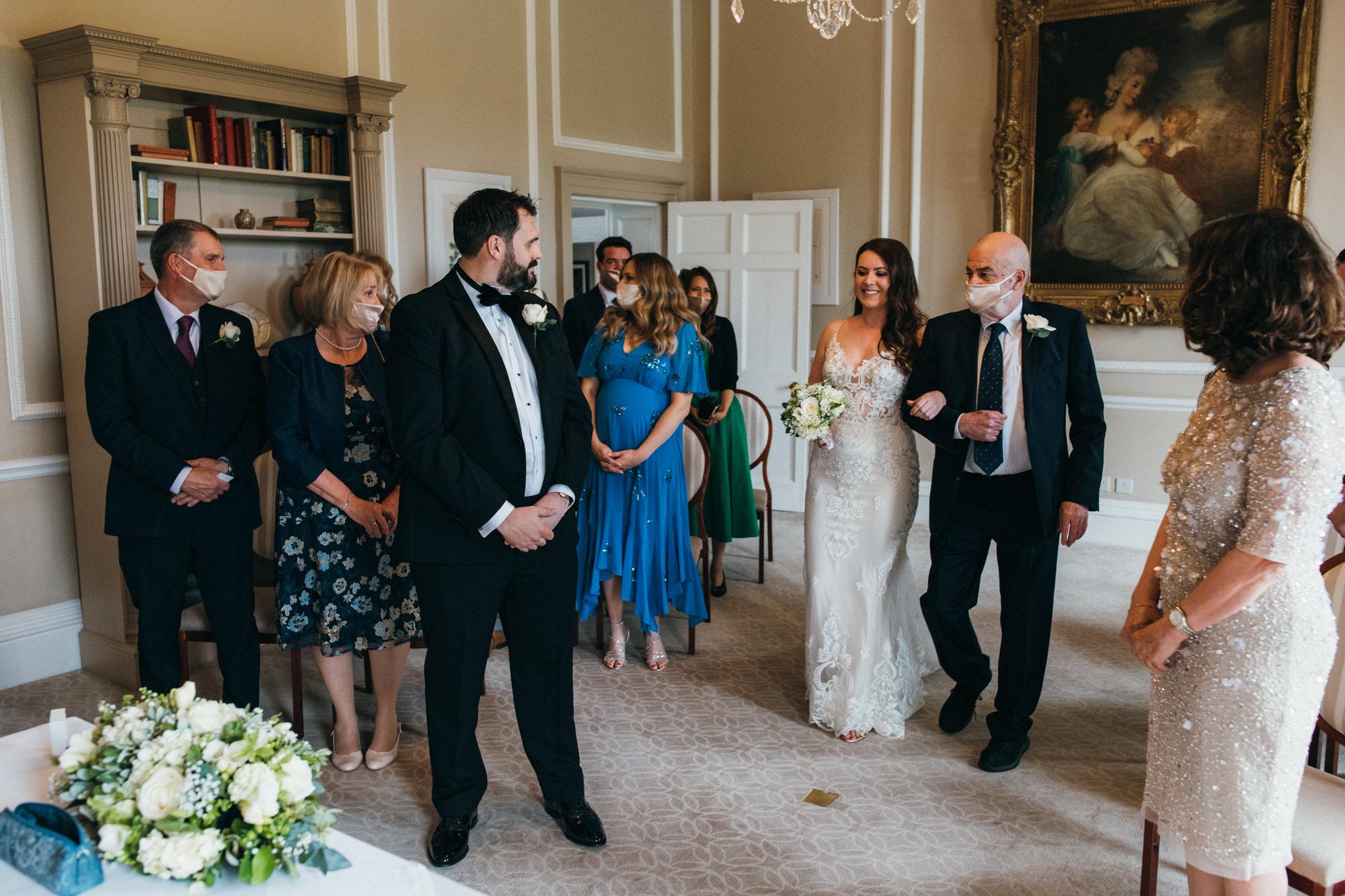 Black tie intimate wedding royal crescent 14