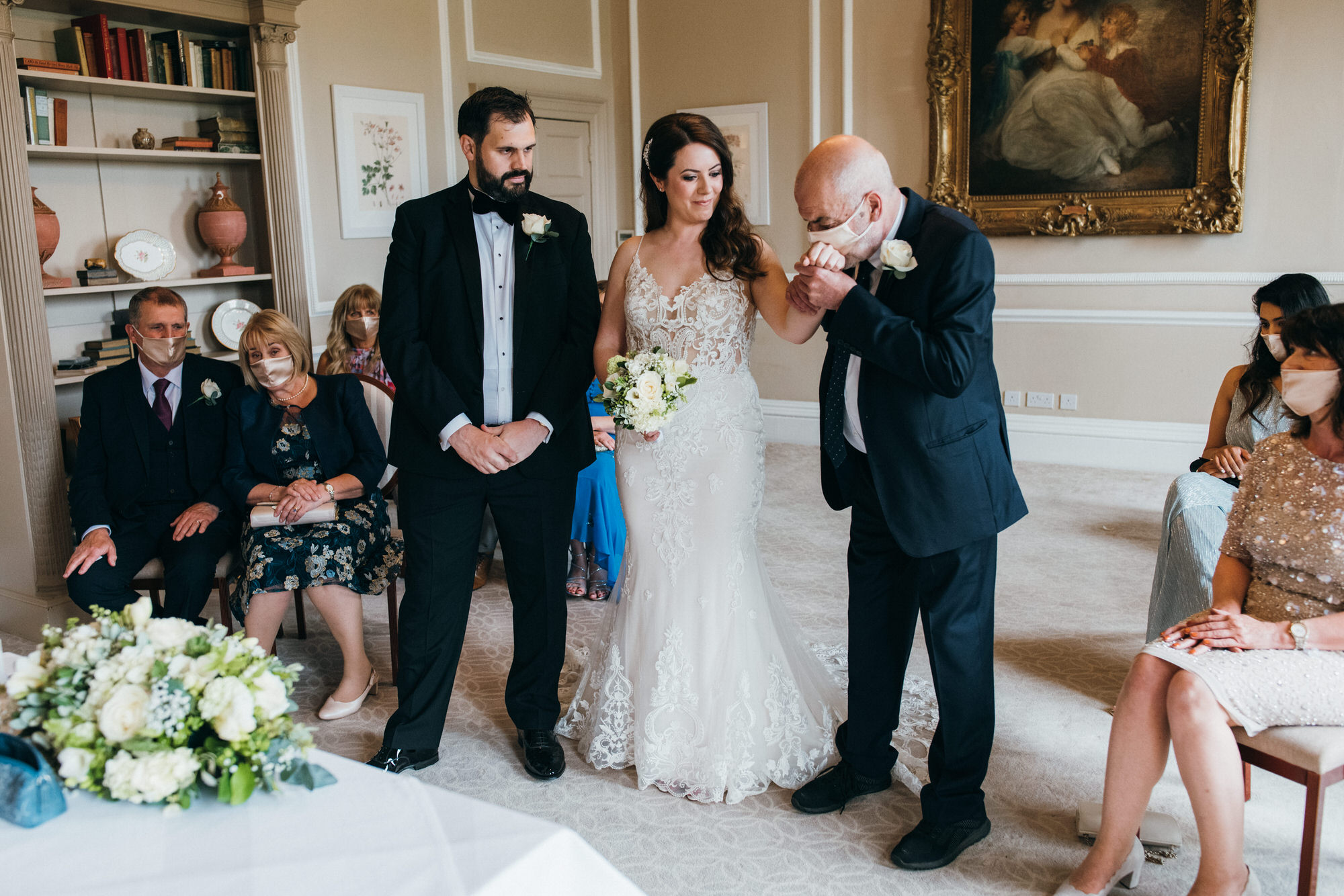 Black tie intimate wedding royal crescent 15