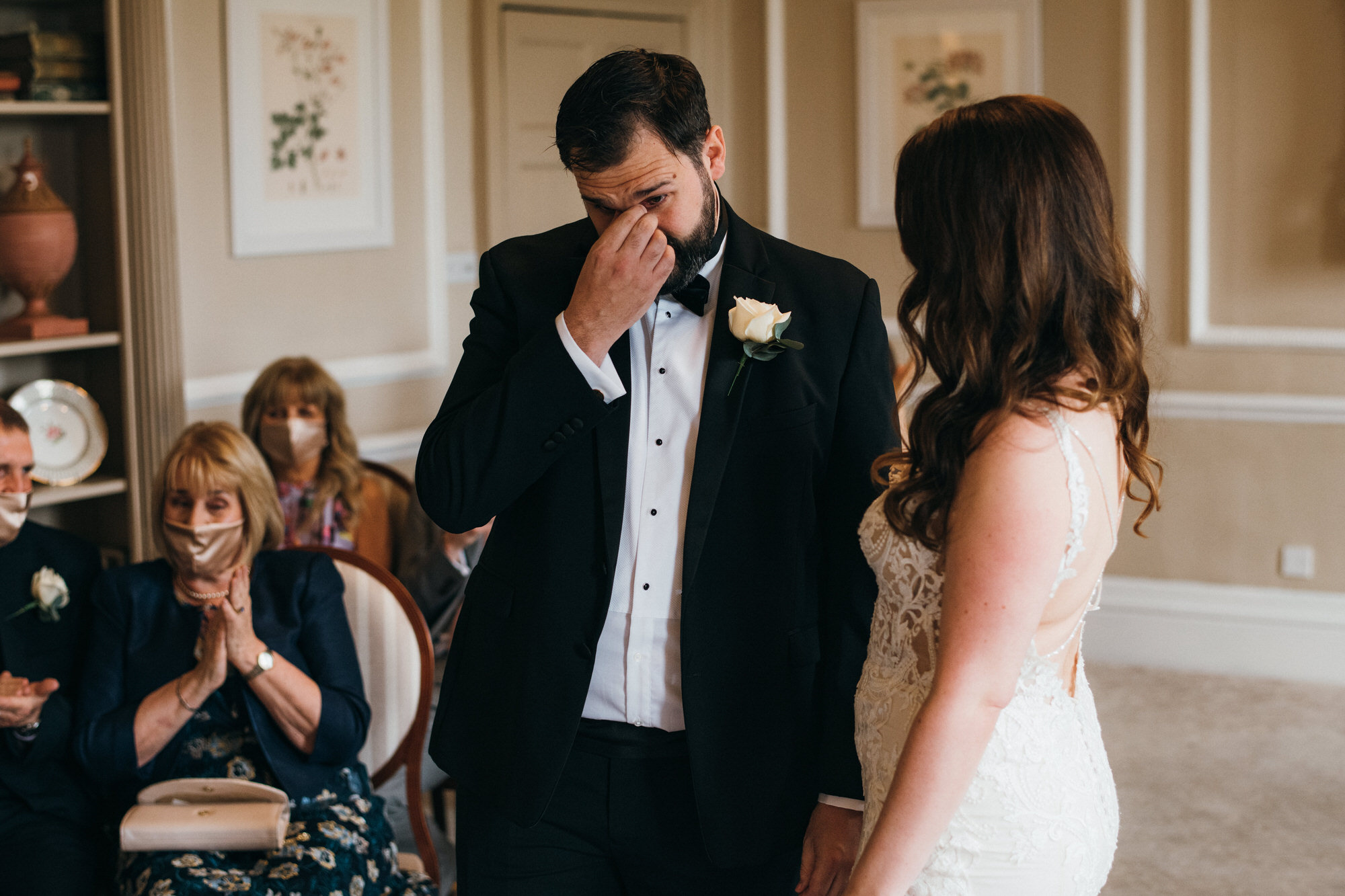 Black tie intimate wedding royal crescent 18