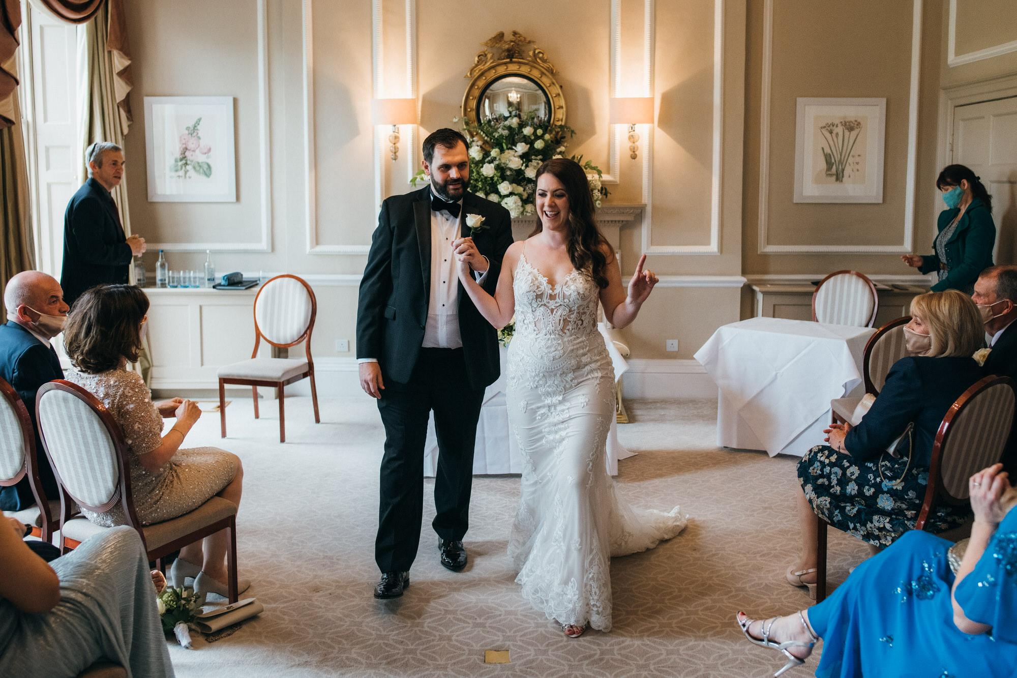 Black tie intimate wedding royal crescent 19