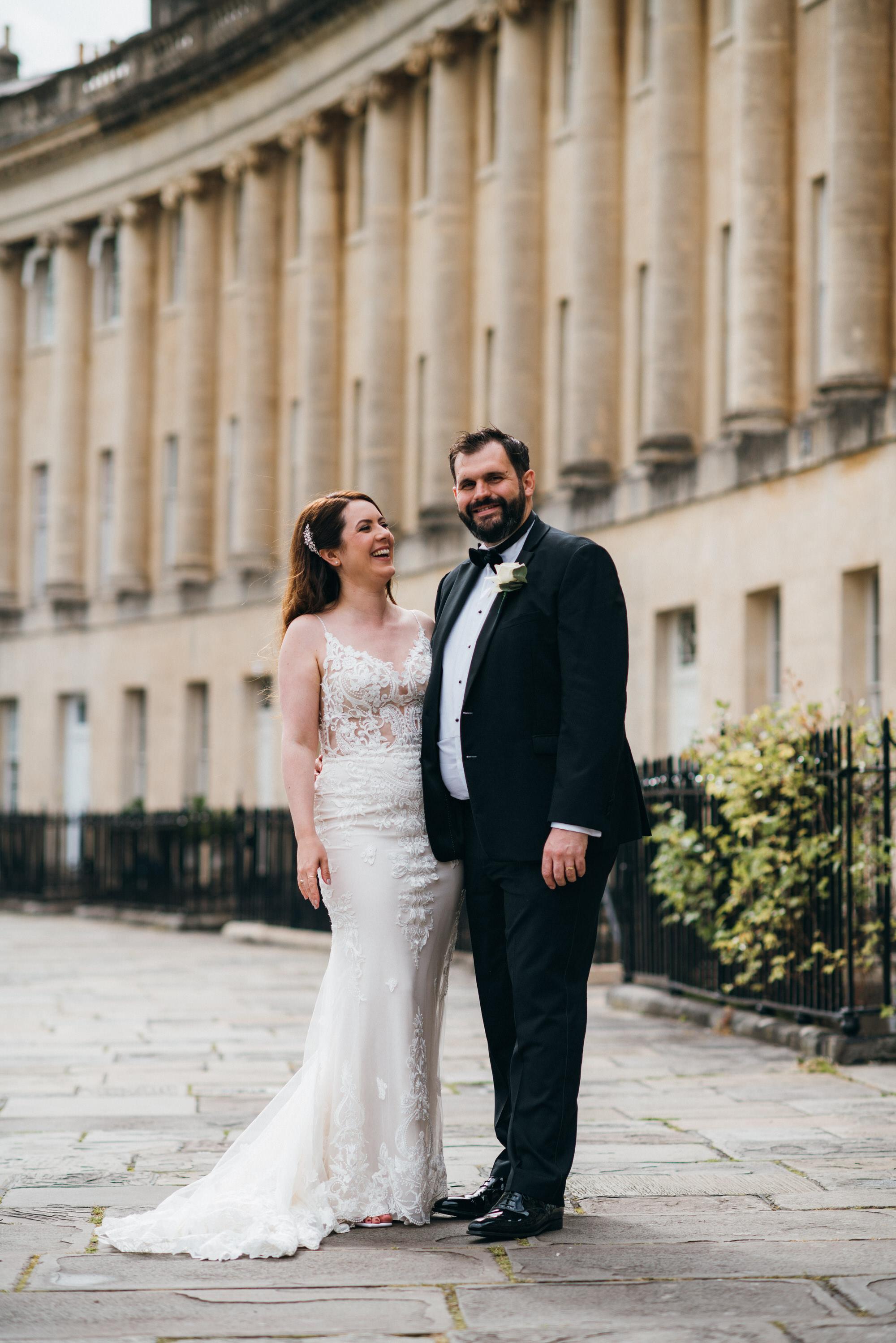 Black tie intimate wedding royal crescent 37