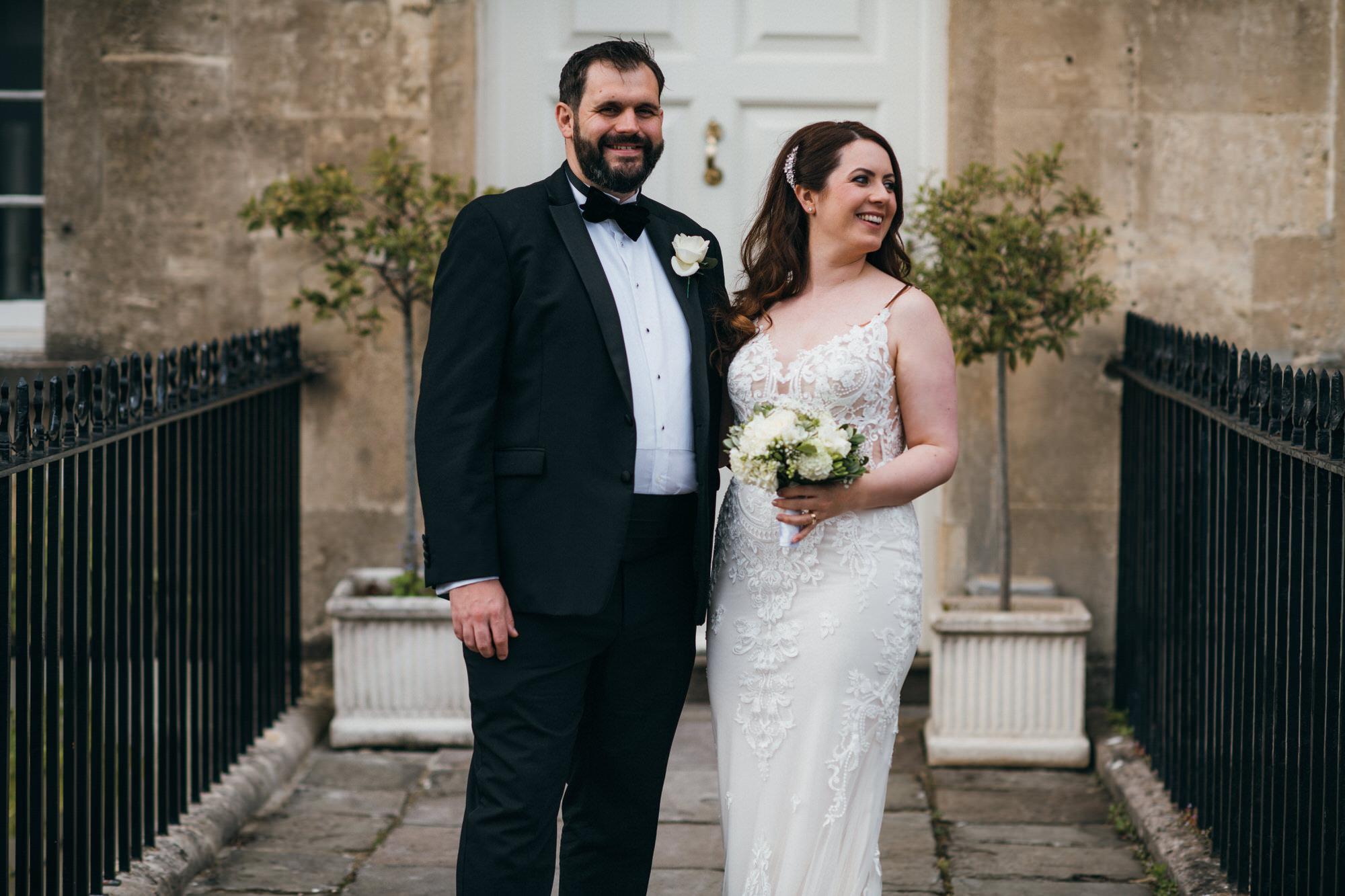 Black tie intimate wedding royal crescent 38