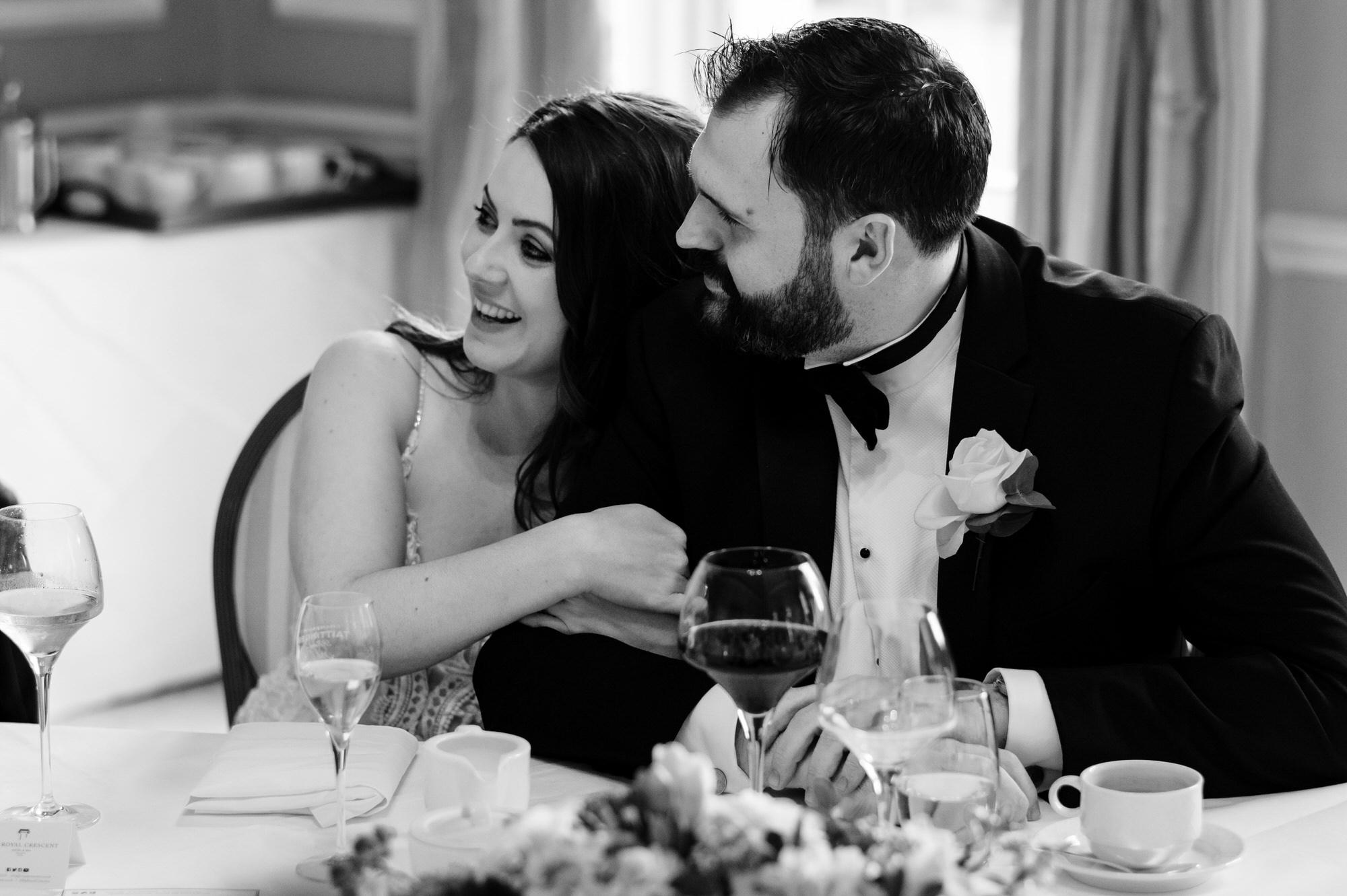 Black tie intimate wedding royal crescent 43