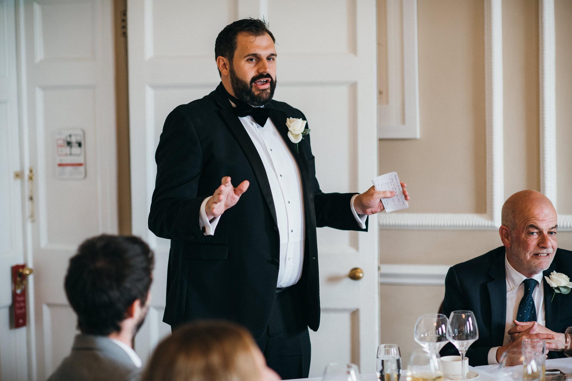 Black tie intimate wedding royal crescent 44