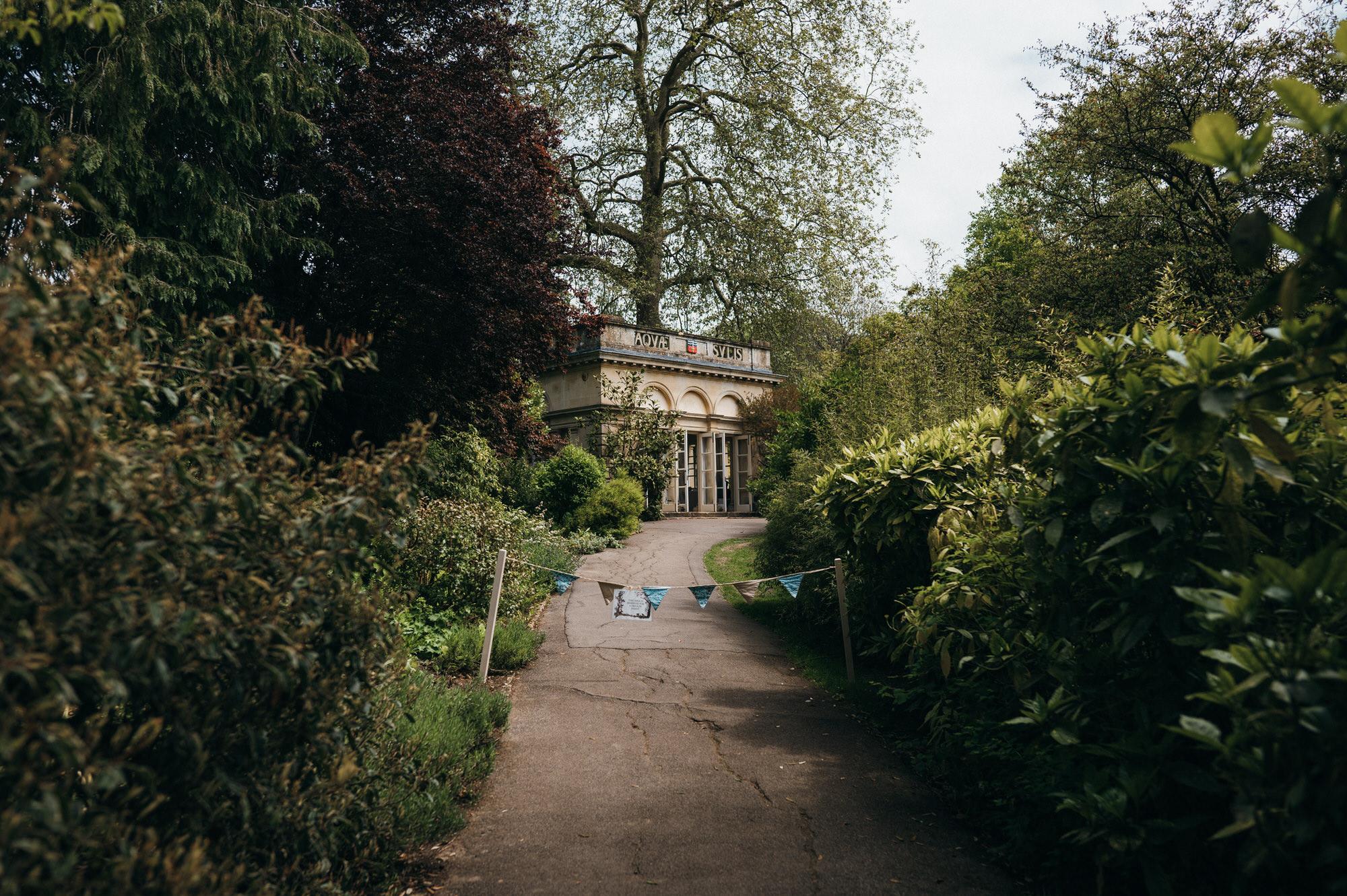 Intimate wedding botanical gardens bath 1