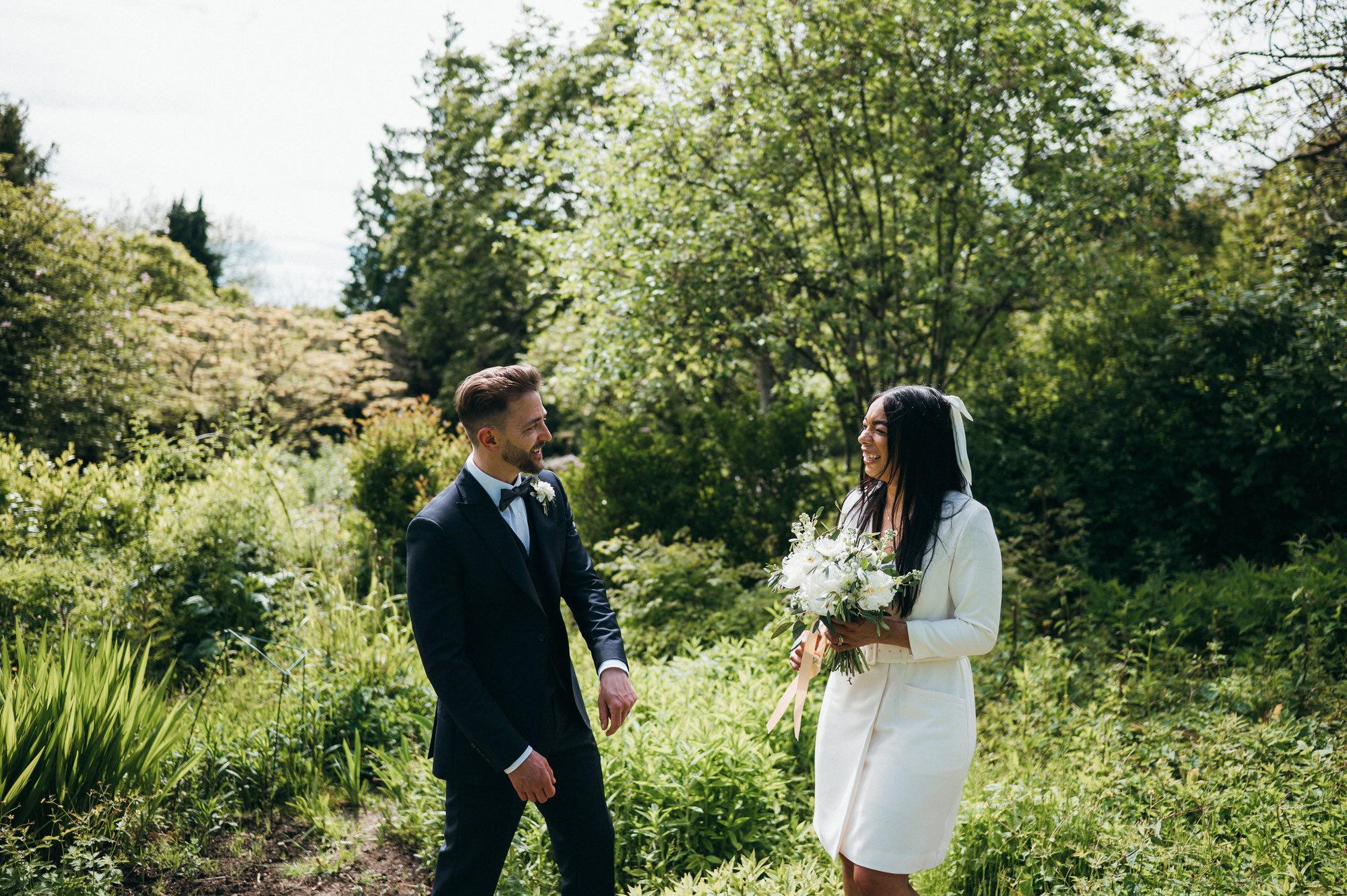 Intimate wedding botanical gardens bath 31