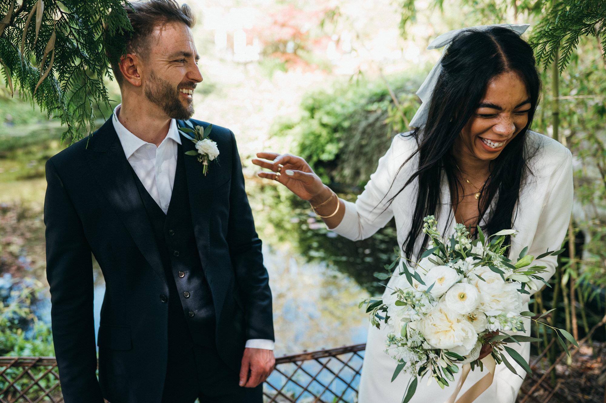 Intimate wedding botanical gardens bath 34