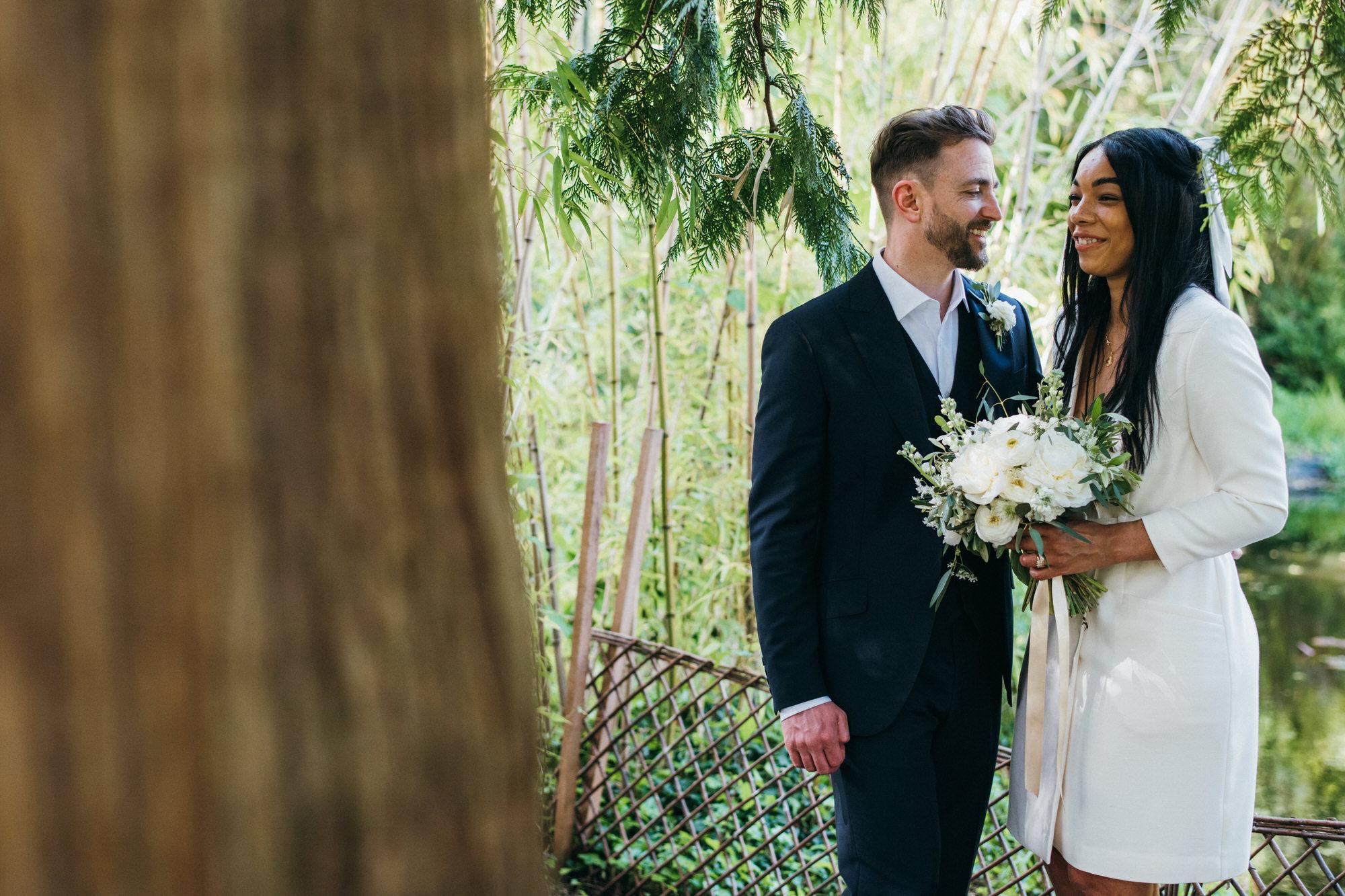 Intimate wedding botanical gardens bath 35