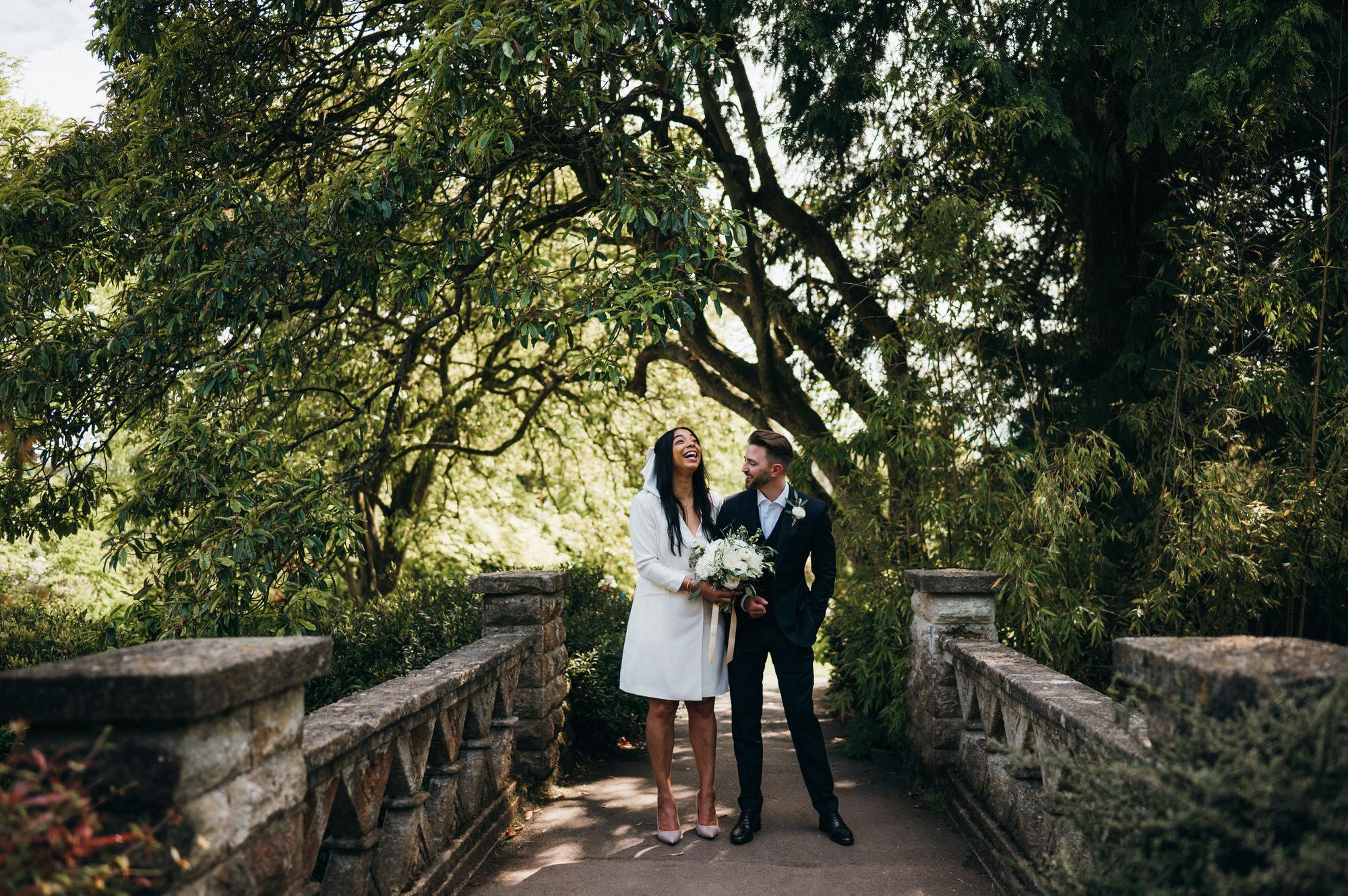 Intimate wedding botanical gardens bath 37