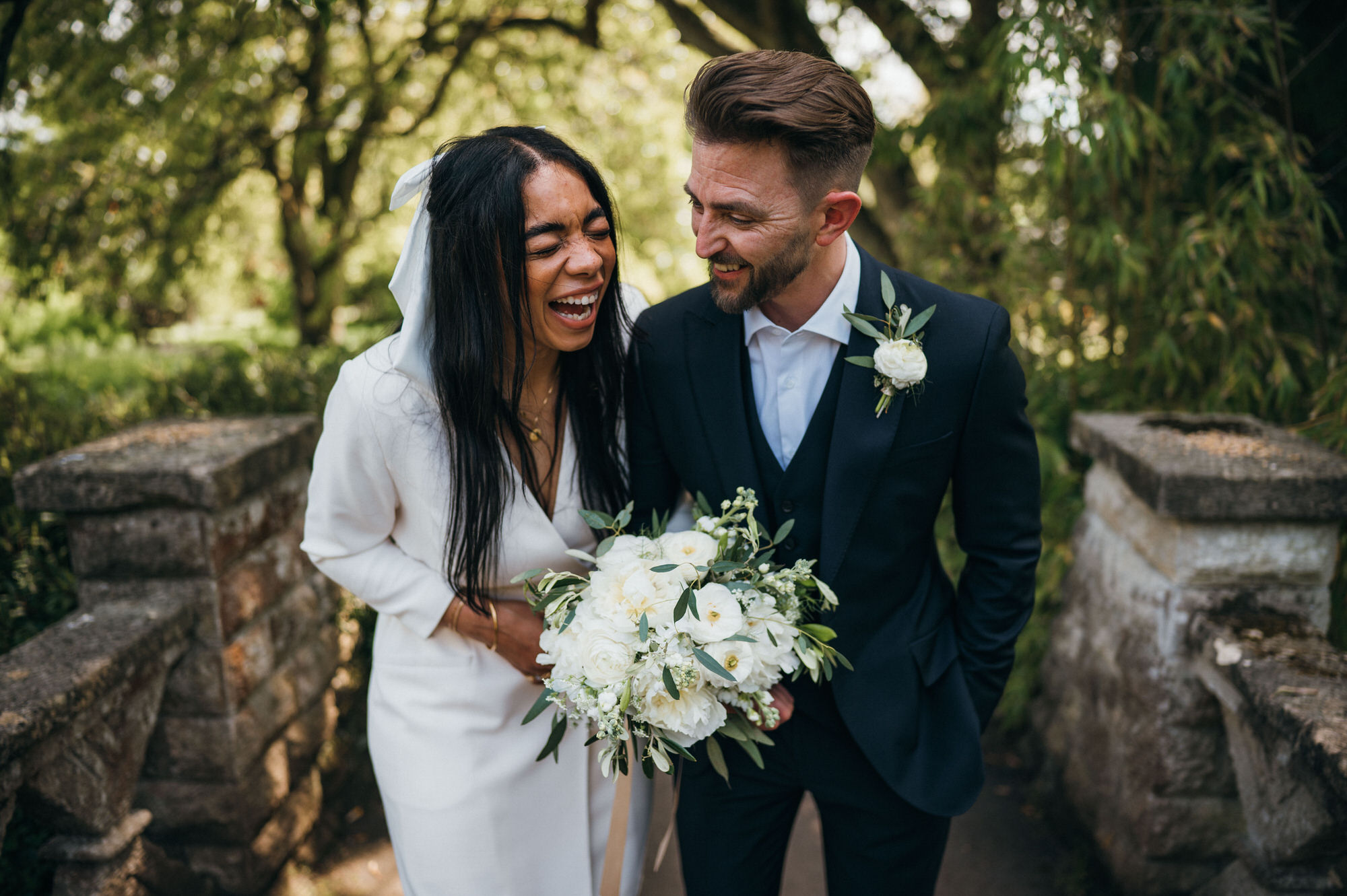 Intimate wedding botanical gardens bath 39