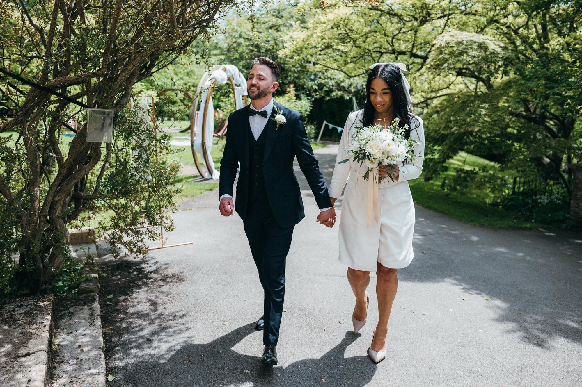 Intimate wedding botanical gardens bath 6
