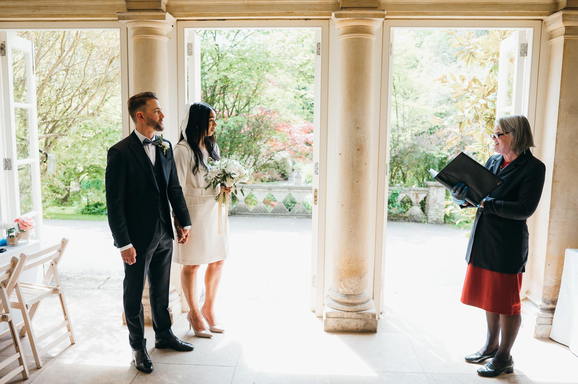 Intimate wedding botanical gardens bath 7